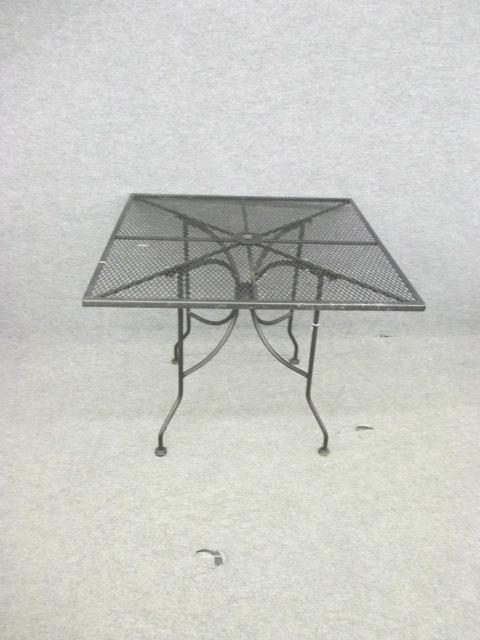 Black Iron Square Patio Table