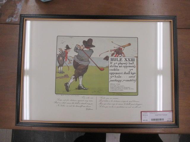 Golf Print Framed Chay Crombif Rule 23