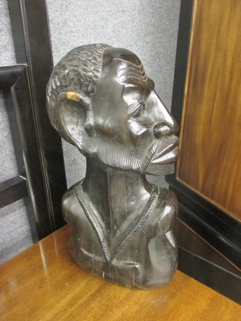 Male African Bust Prbly Ebony, ca late 1960's