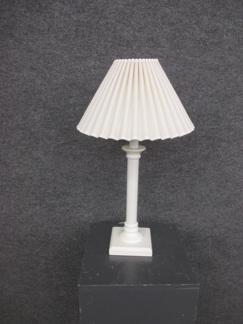 White Pencil Post Table Lamp