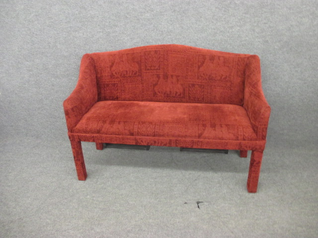Upholstered Red Bench