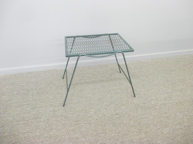 Green Metal Outdoor Table