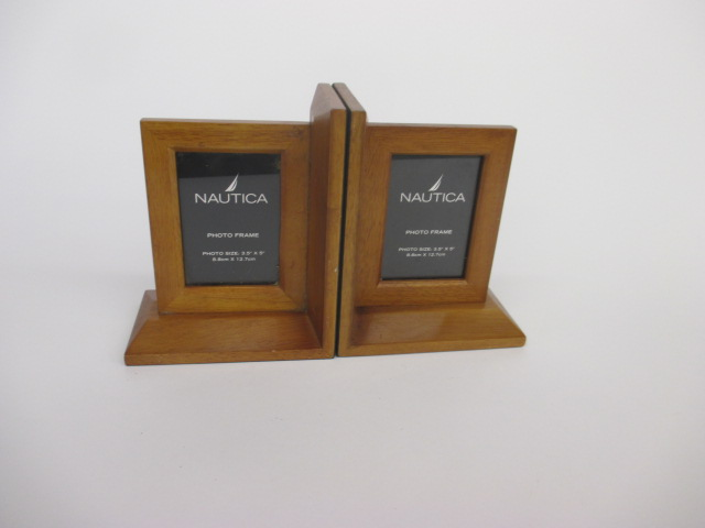 Photo Frame bookends wood