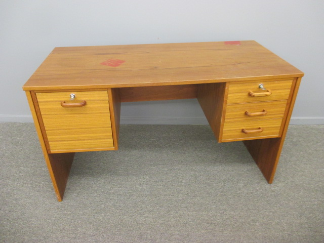 Danish Modern Teak Desk - Priced According To Condition
