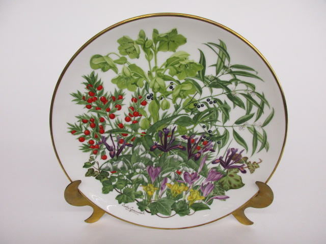 Franklin Porcelain Flowers of the Year Plate Collection FEBRUARY