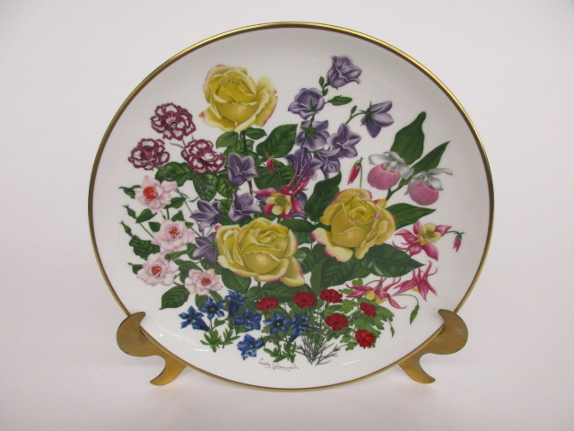 Franklin Porcelain Flowers of the Year Plate Collection JUNE