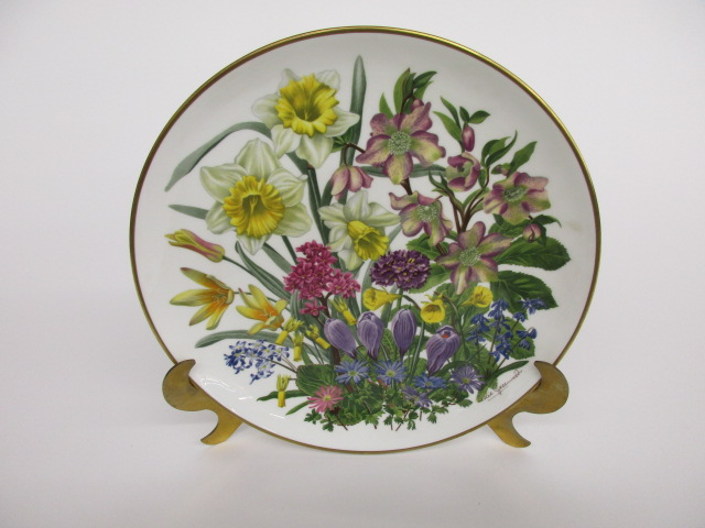 Franklin Porcelain Flowers of the Year Plate Collection MARCH