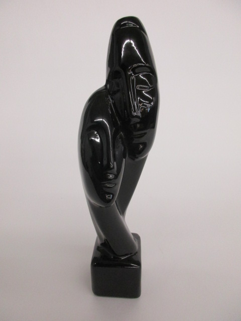 Black Porcelain Two Heads