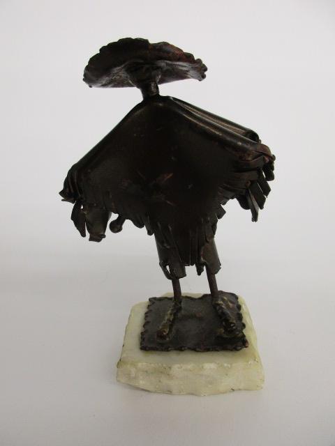 Metal Sculpture Poncho sombrero