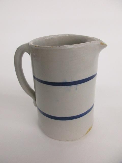 Gray w Blue Stripe Pitcher