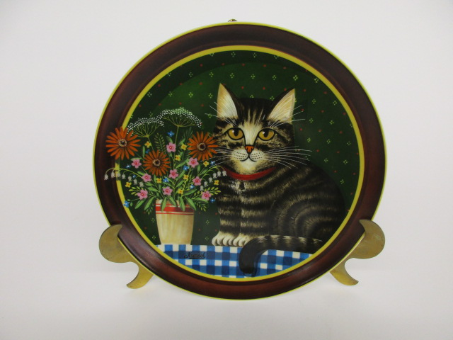 Olivers Birthday Cat Plate