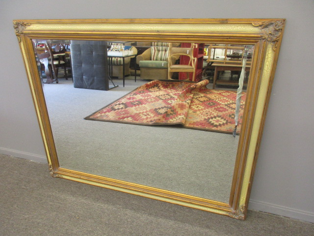 Large Wall Mirror w/ Gold Crackle Frame
