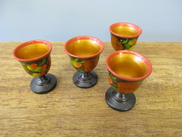 Four Saki Cups