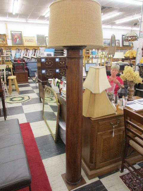 Custom Made Oak Floor Lamp