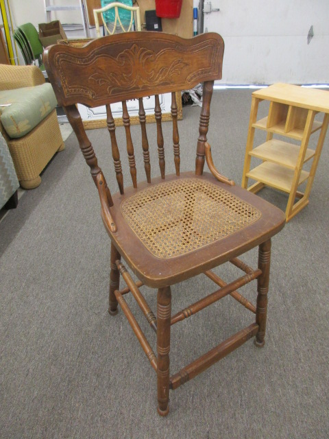 Oak Bar Height Chair