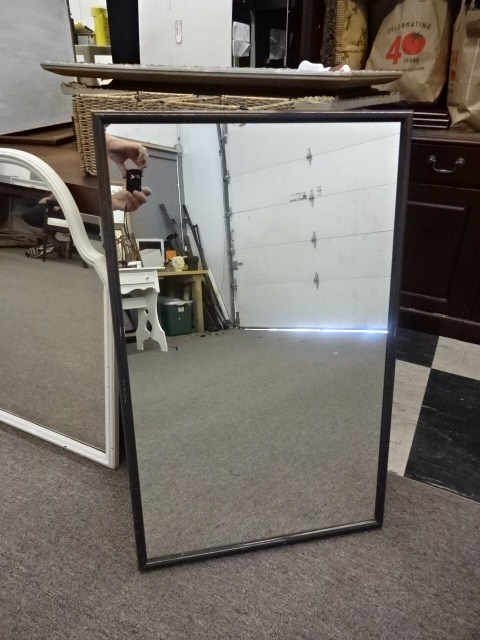 Mirror with Eggplant Color Frame, 23
