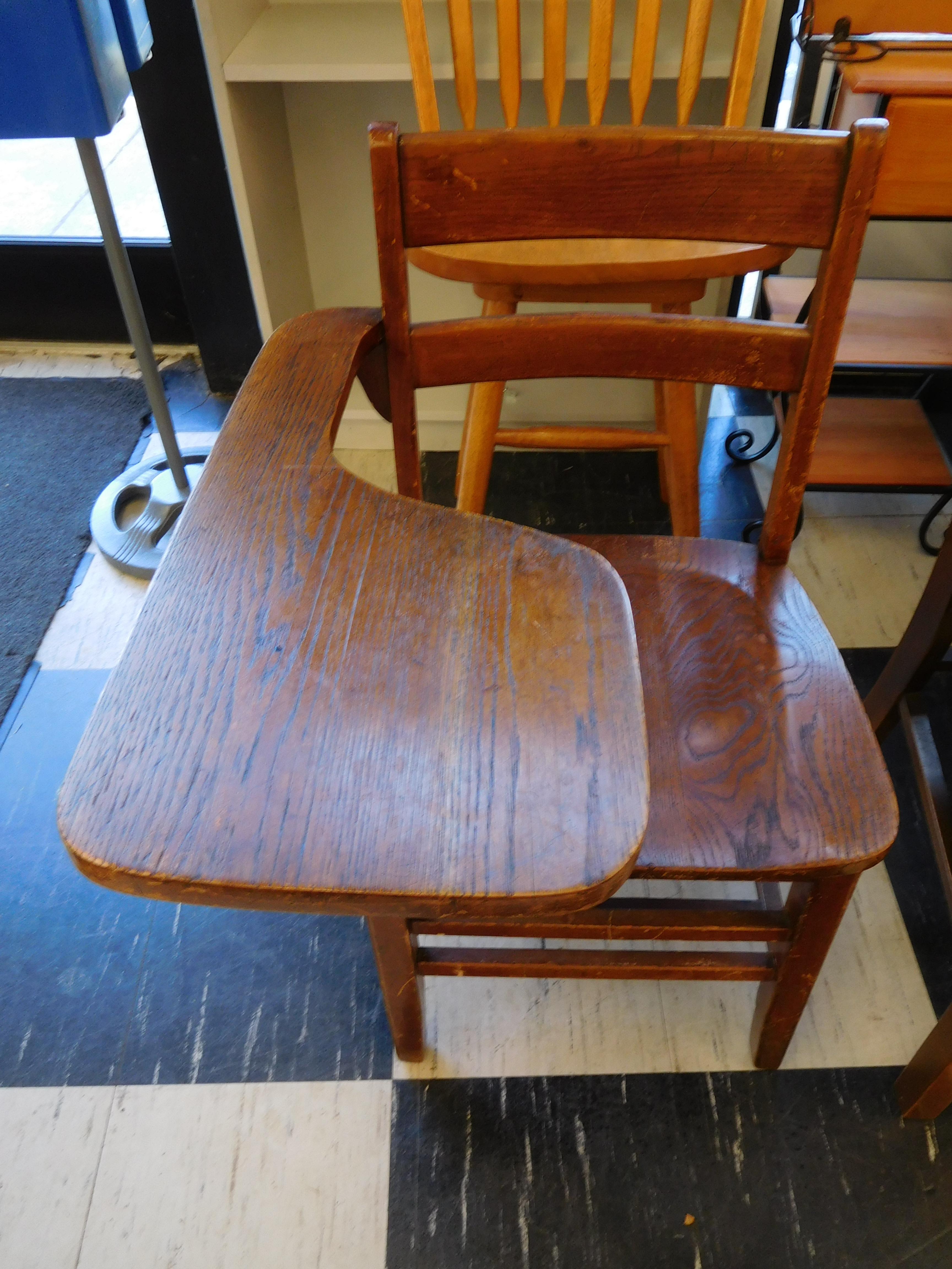 Vintage Oak School Desk