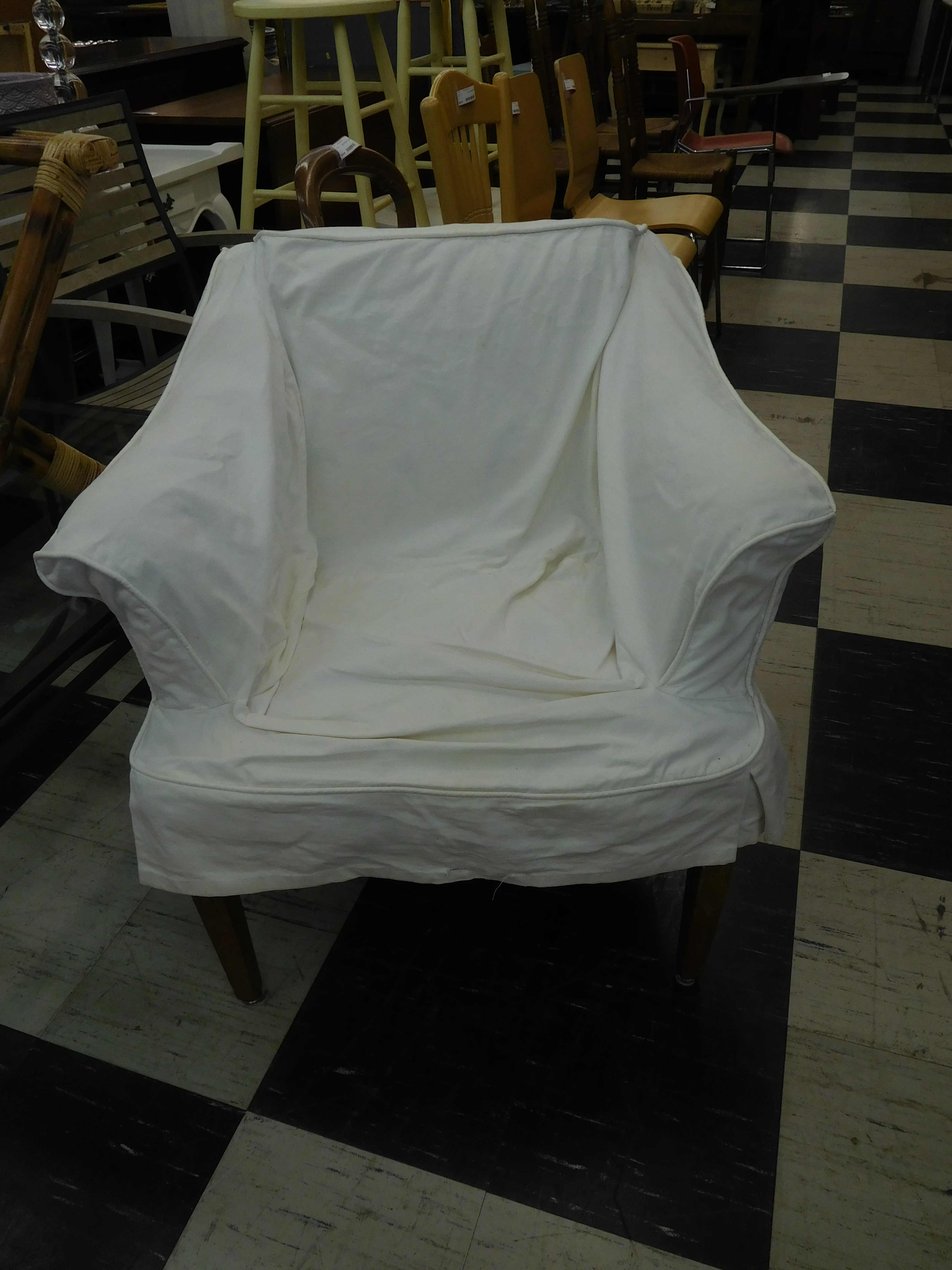 slip cover accent chair