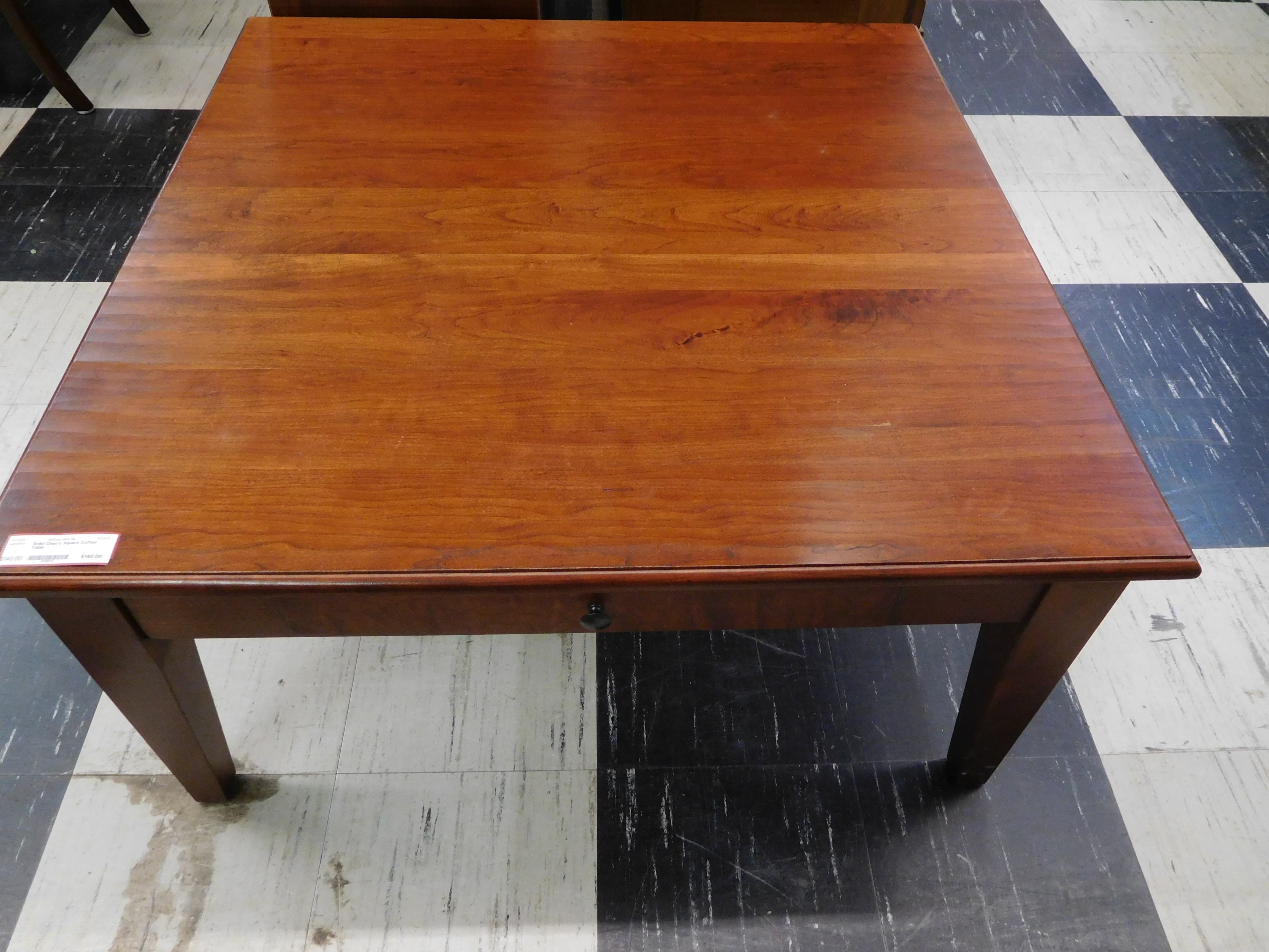Solid Cherry Square Coffee Table