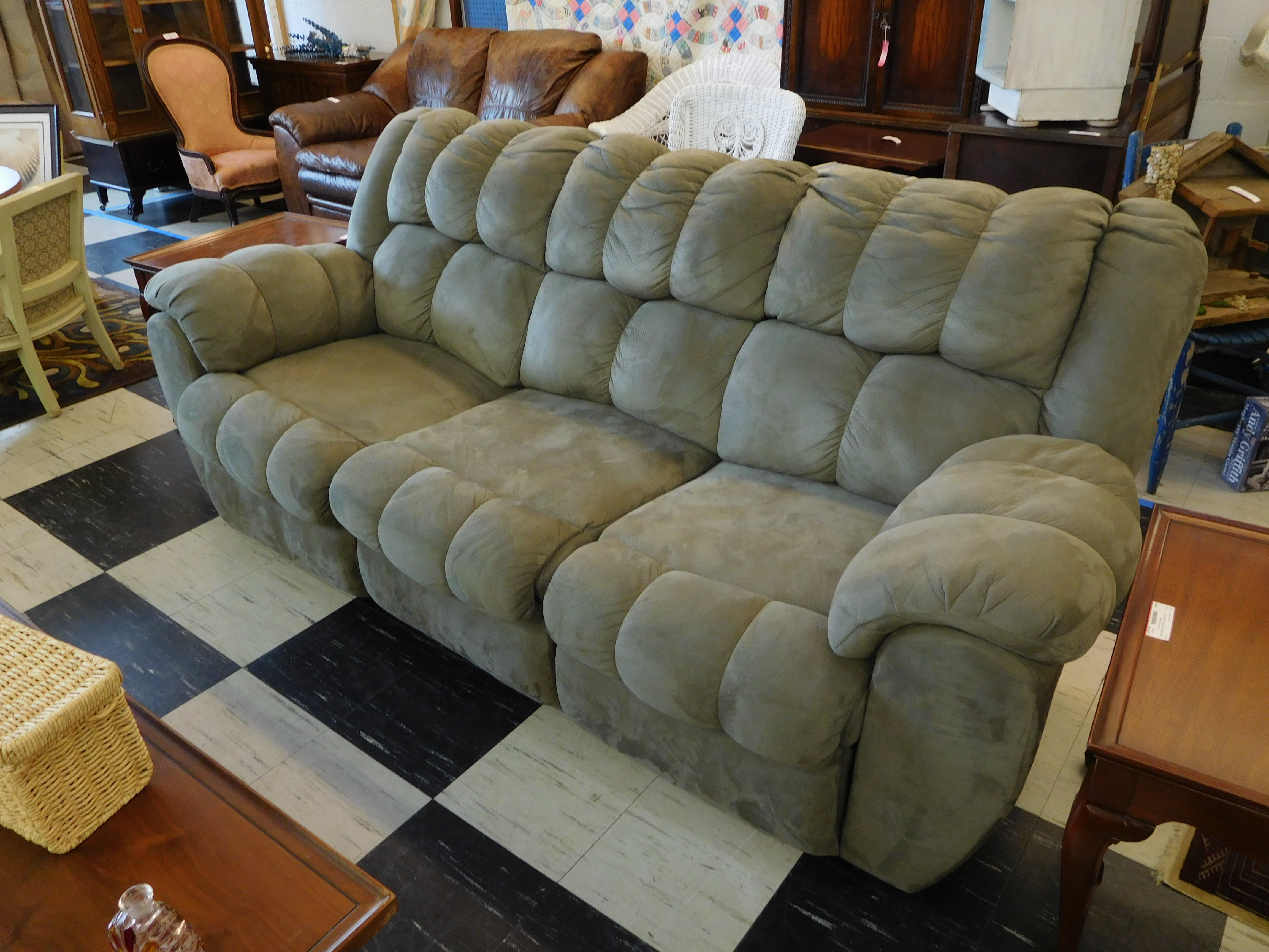 Sage Double Reclining Sofa