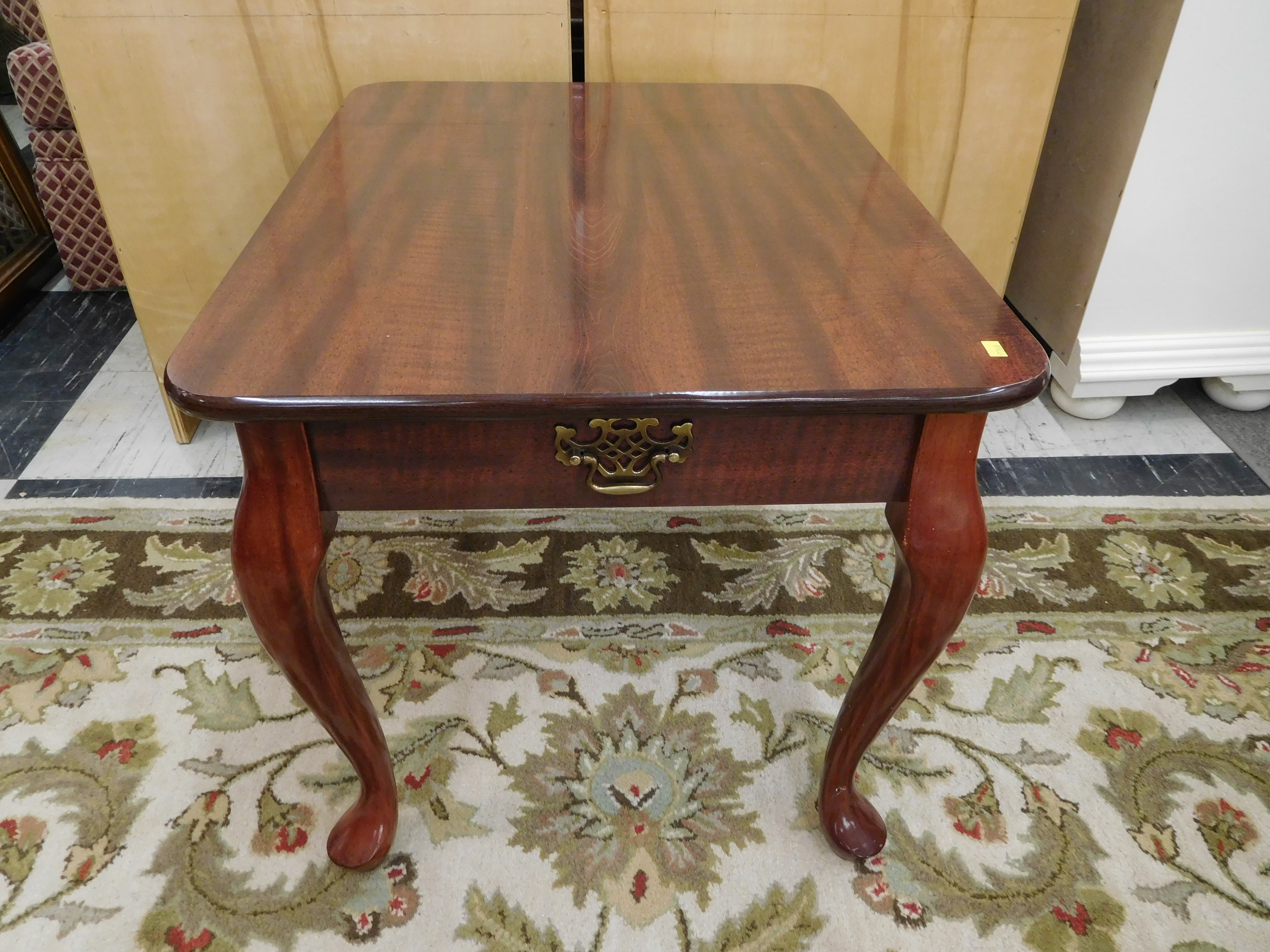 High Luster Mahogany End Table with Drawer