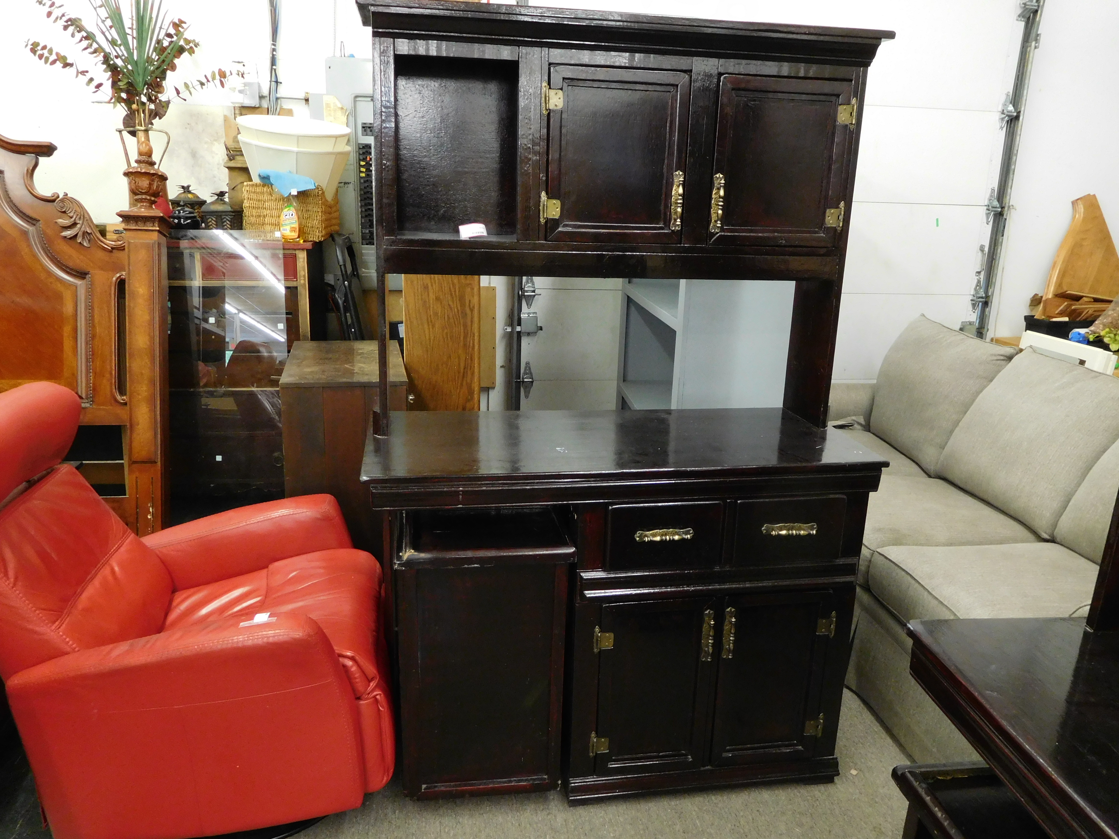 Black Lacquered Storage Cabinet (Was a tattoo station)