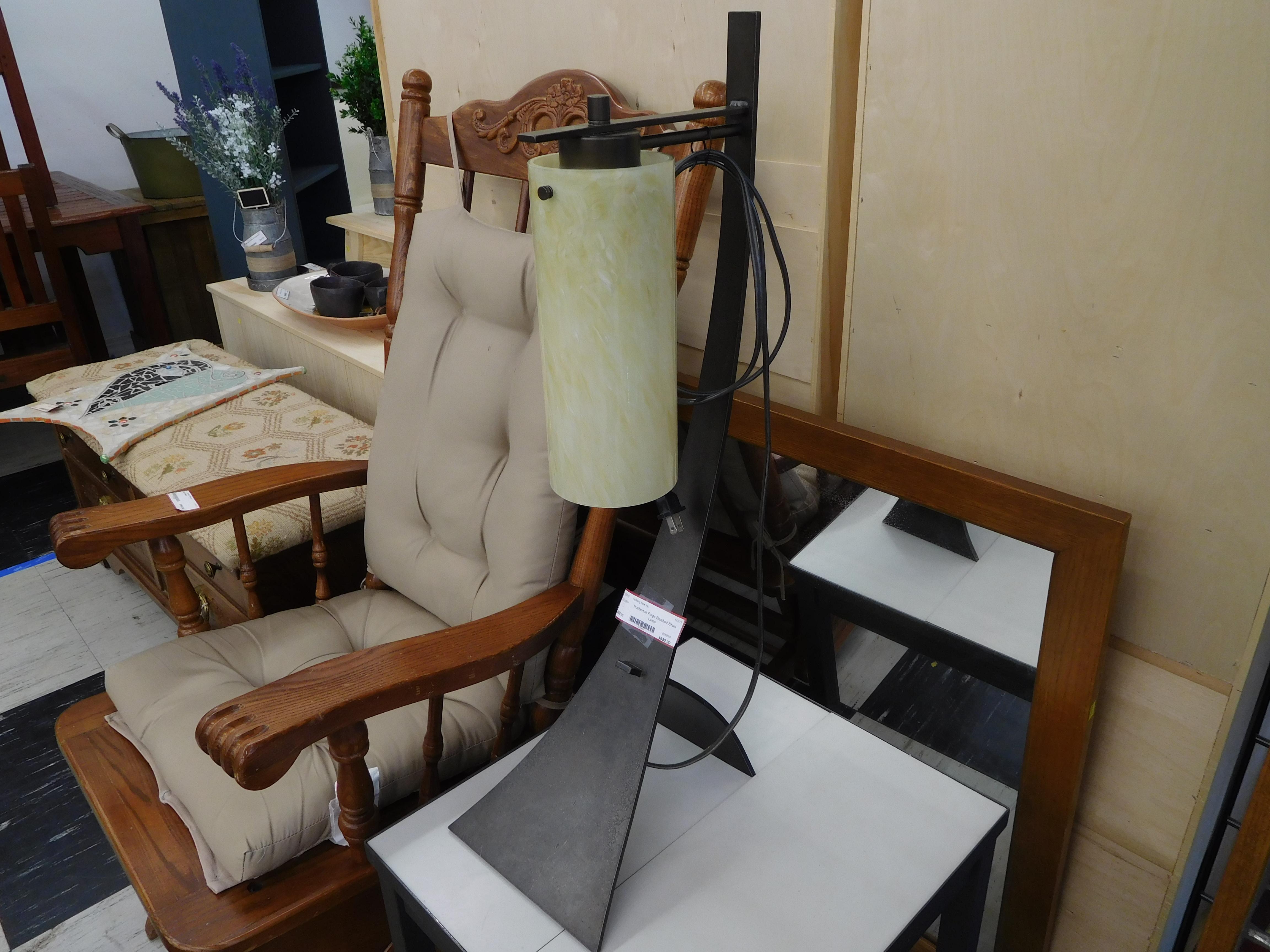 Unique Brushed Steel Designer Lamp by Hubbardton Forge