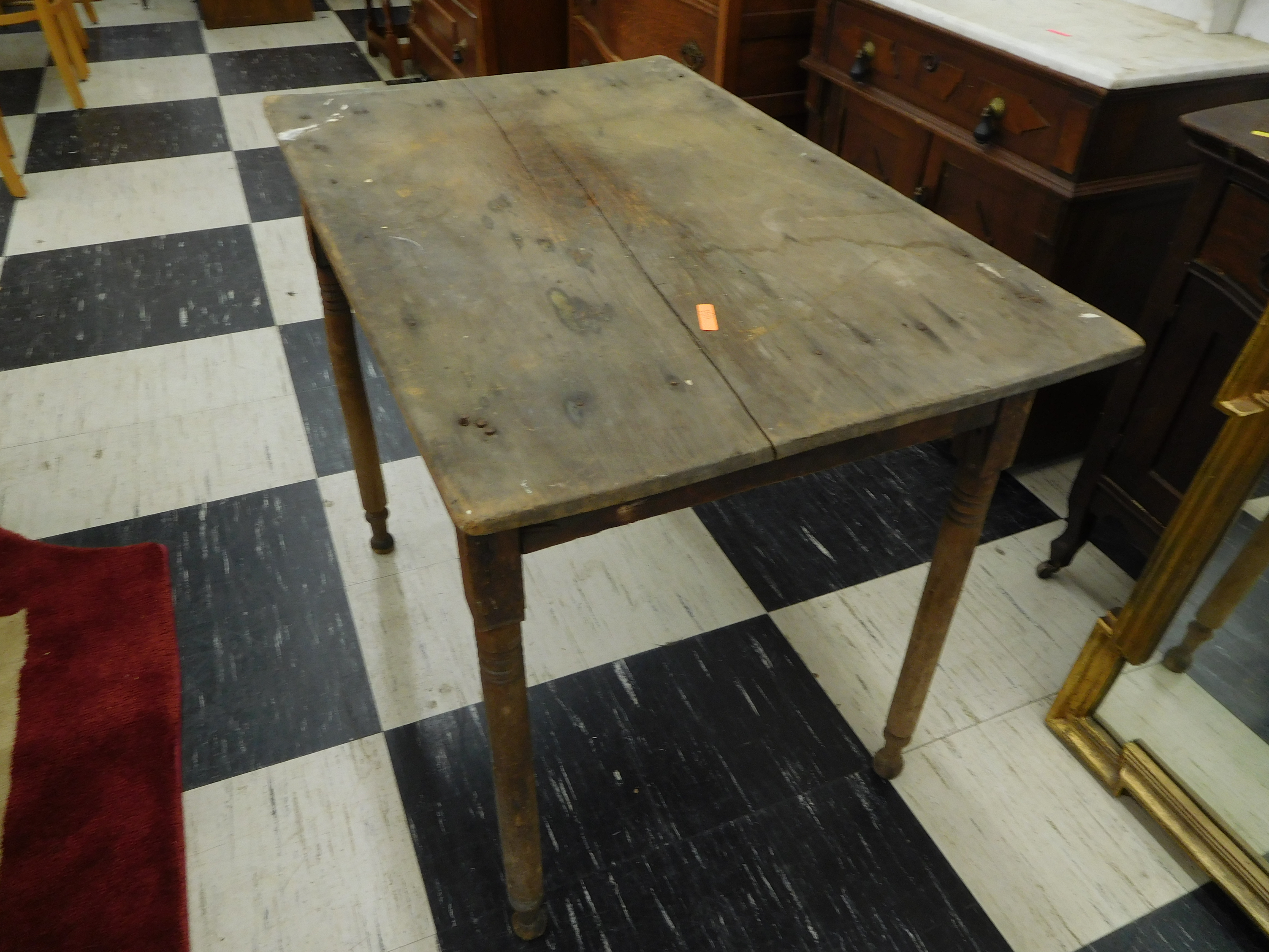 Antique Primitive Plank Table