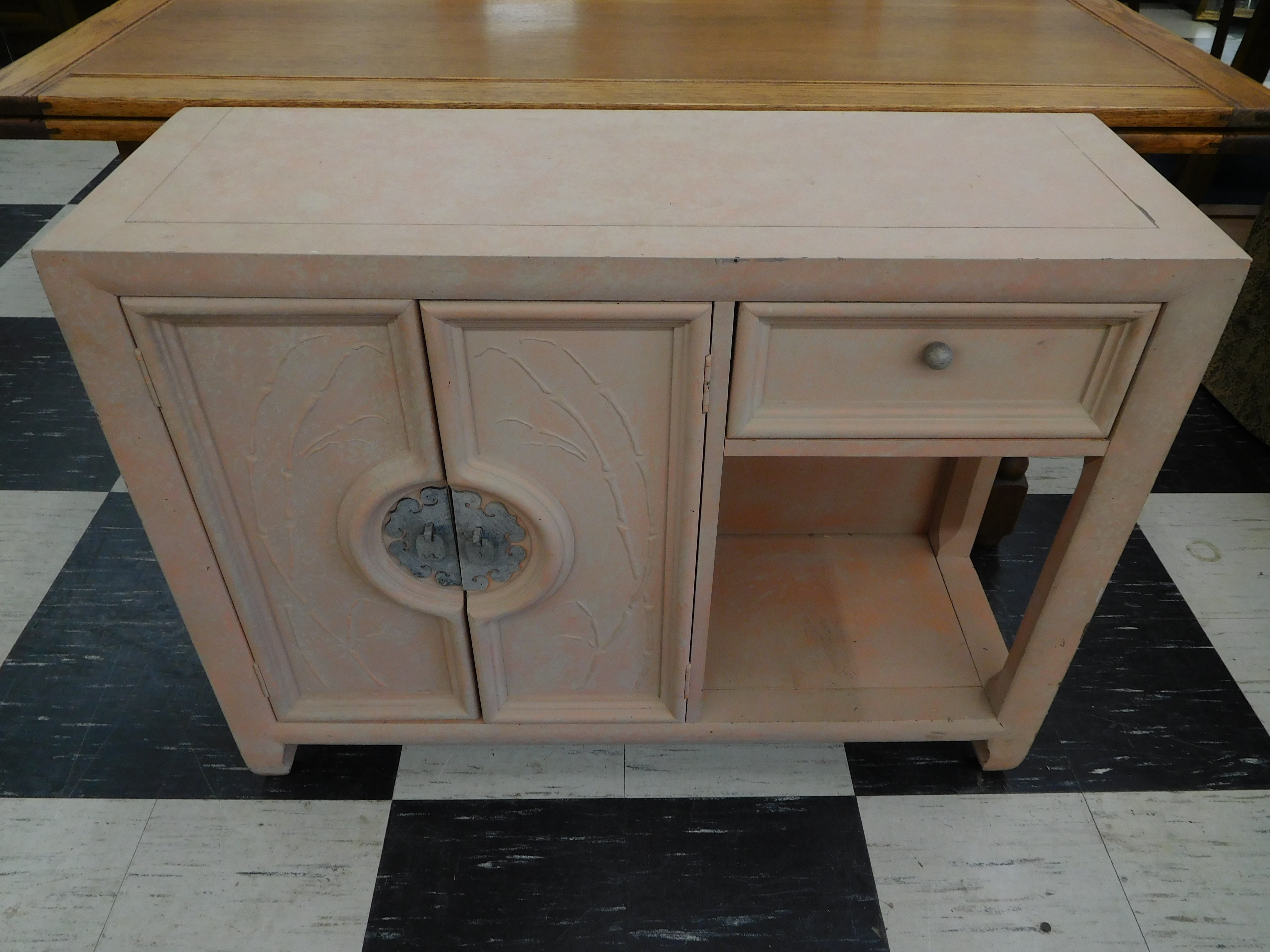 Small Shabby Chic Deco-Inspired Vintage Credenza