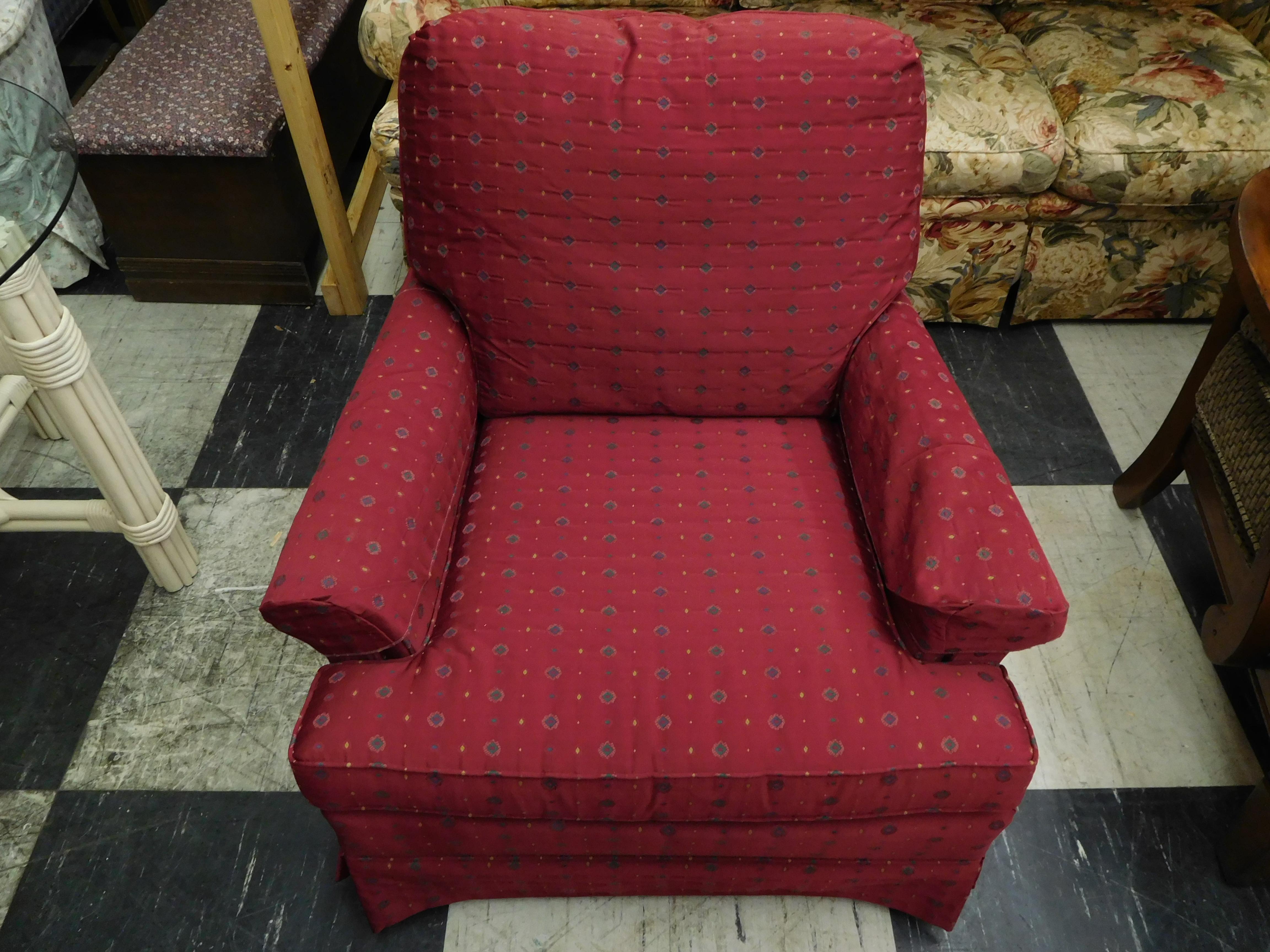 Raspberry Upholstered Chair