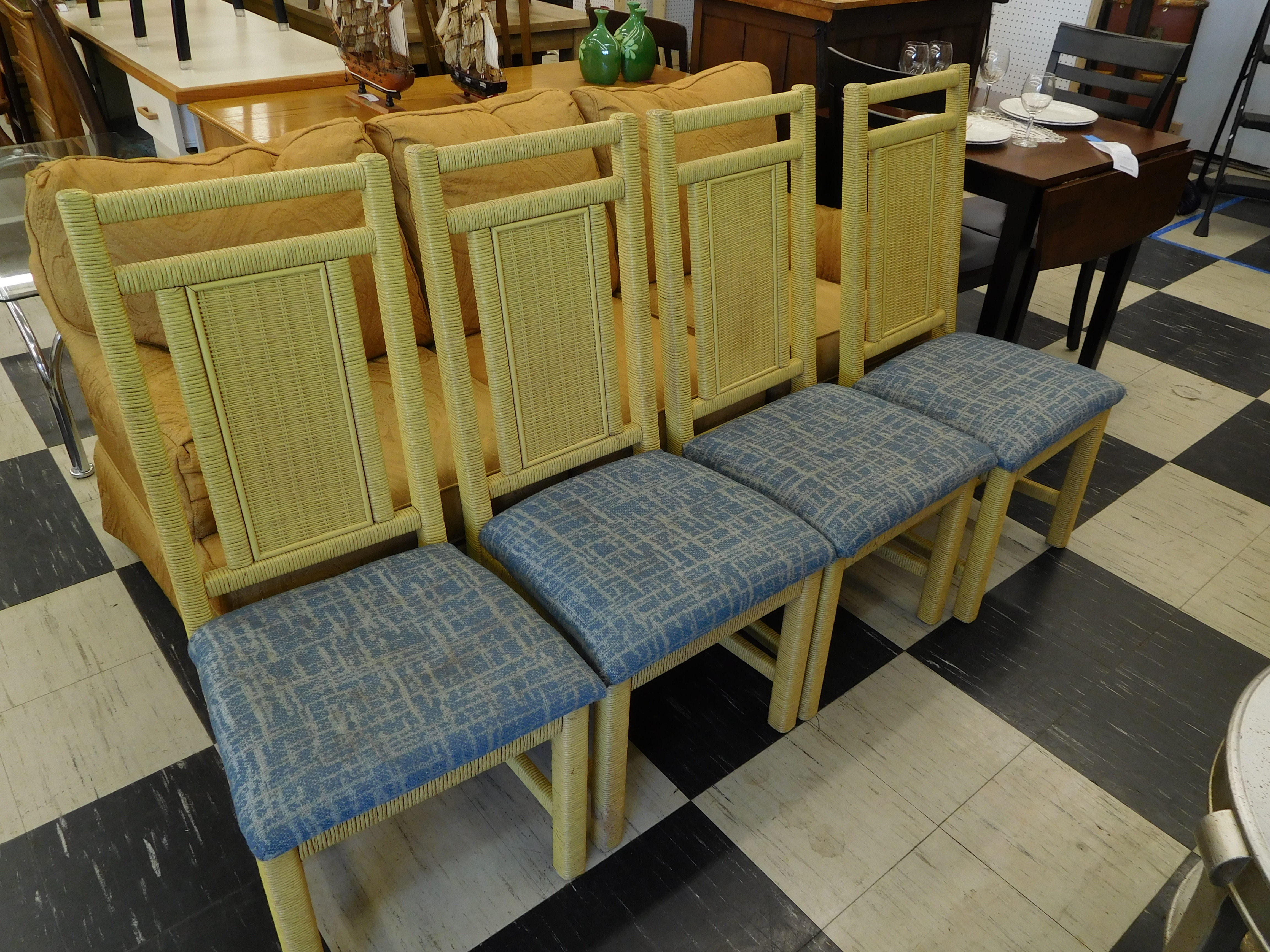 Vintage Young and Hinkle Wicker Dining Chair