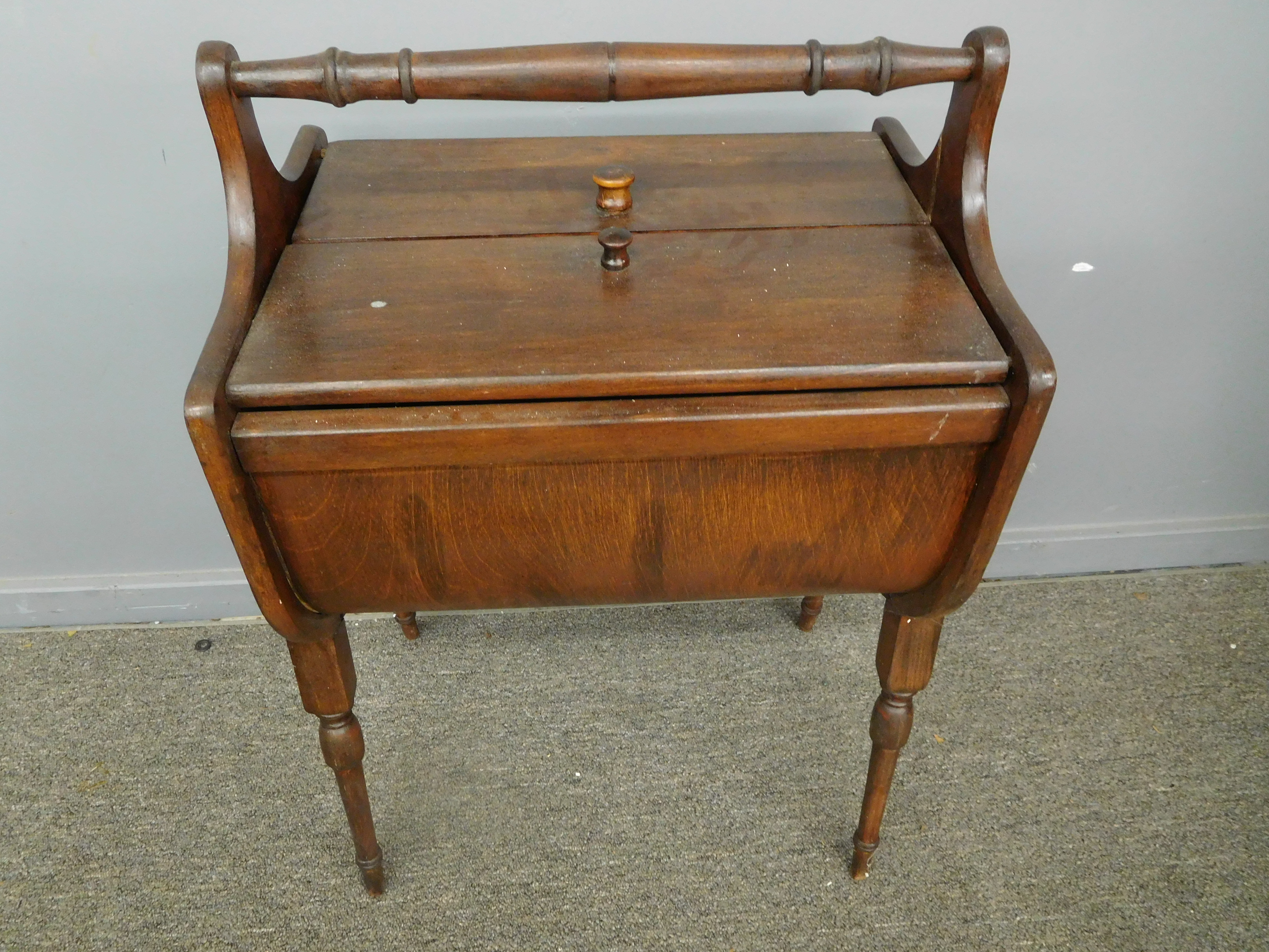 Martha Washington Sewing Supply Box End Table