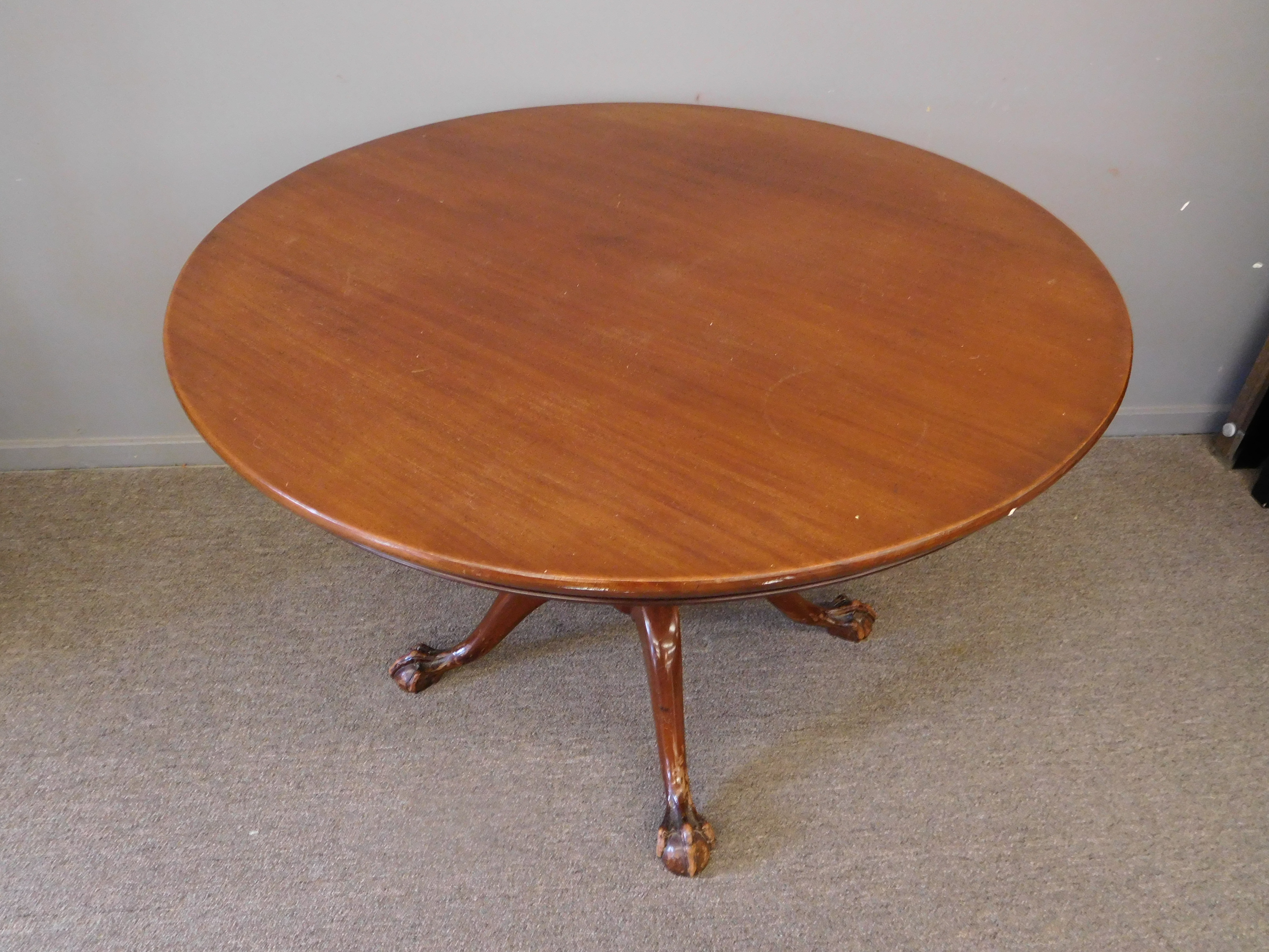 Round Table with Ball and Claw Feet