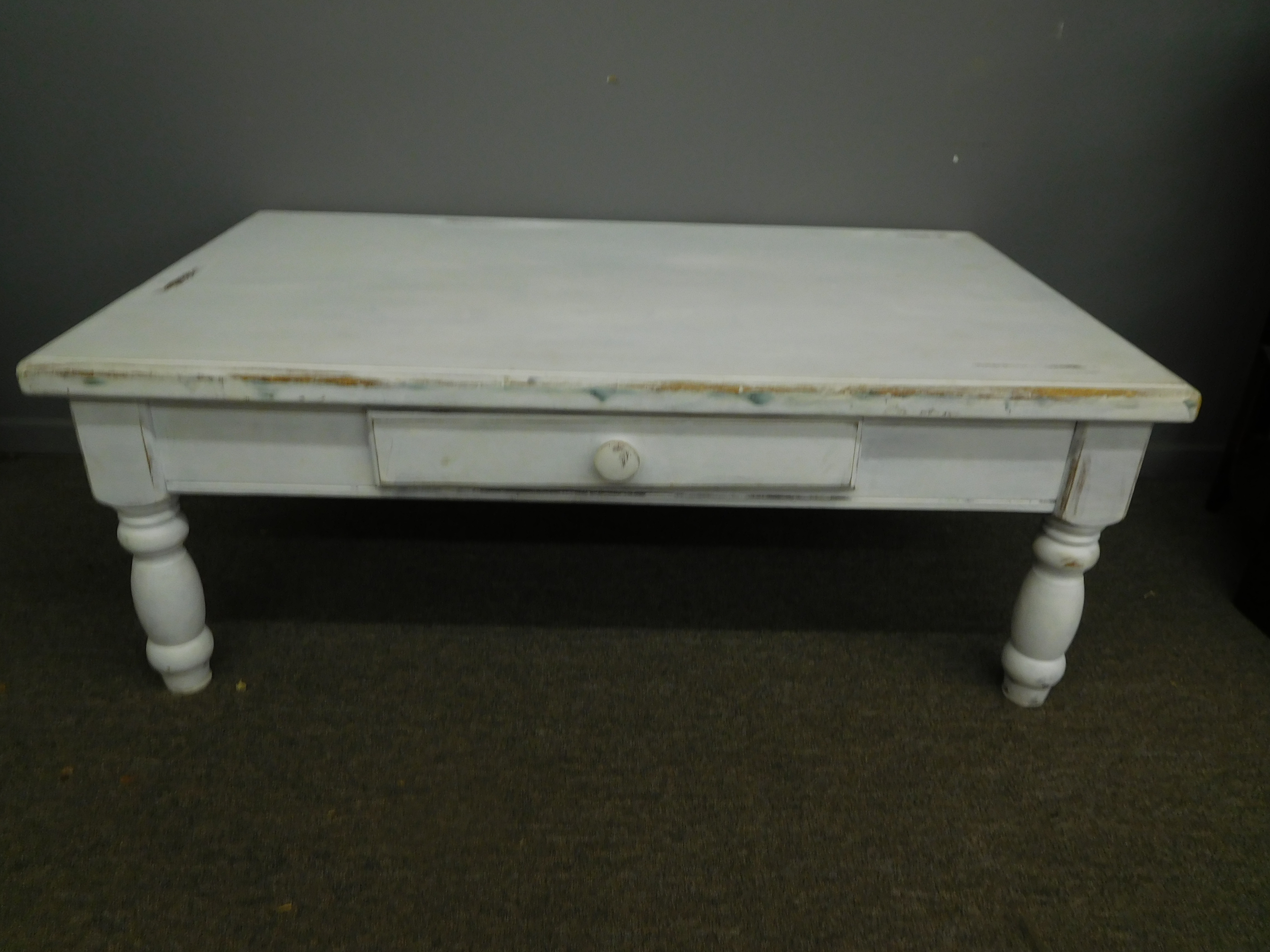 White Shabby Painted Coffee Table