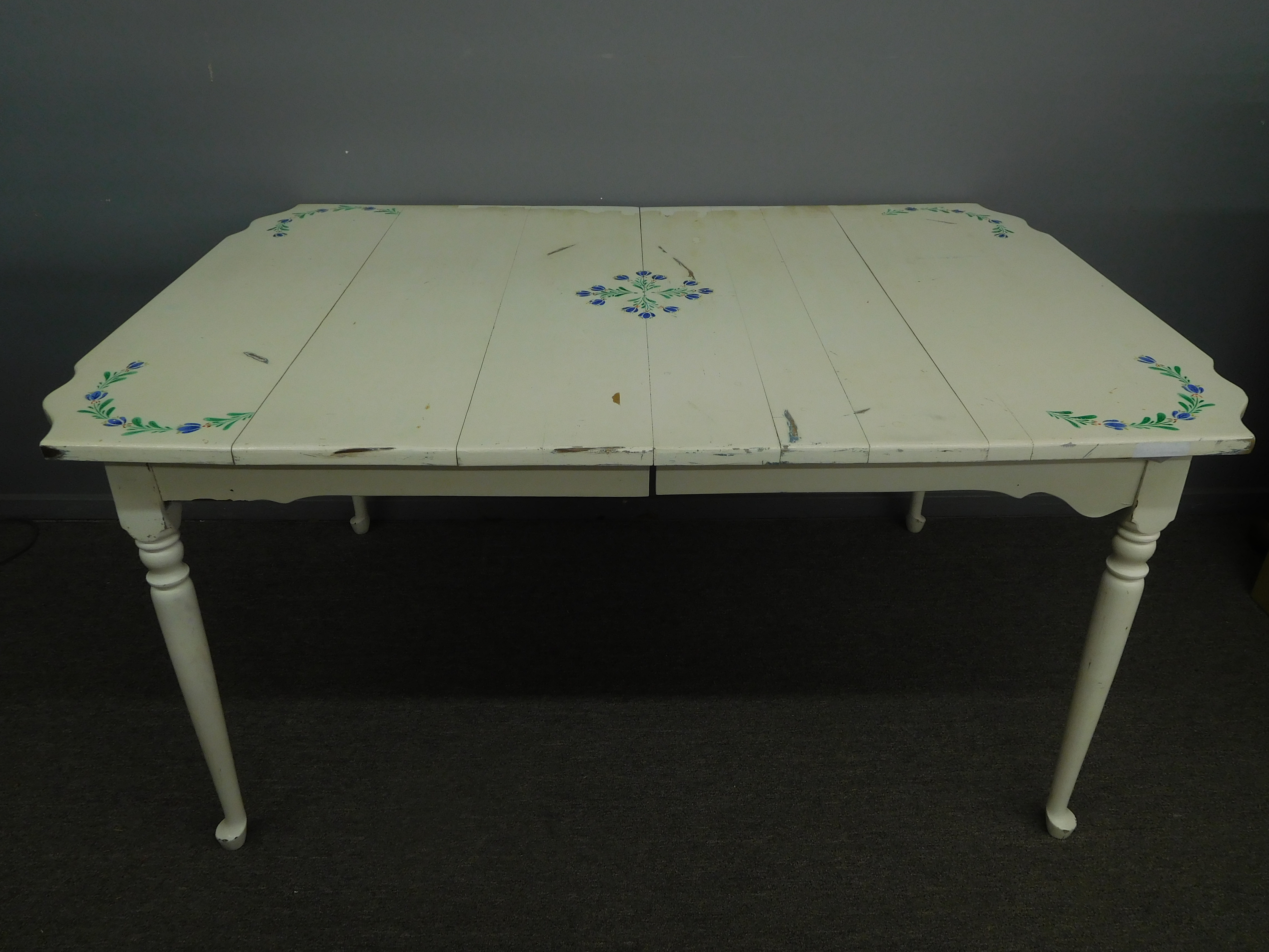 Vintage Hand Painted Shabby Chic Dining Table