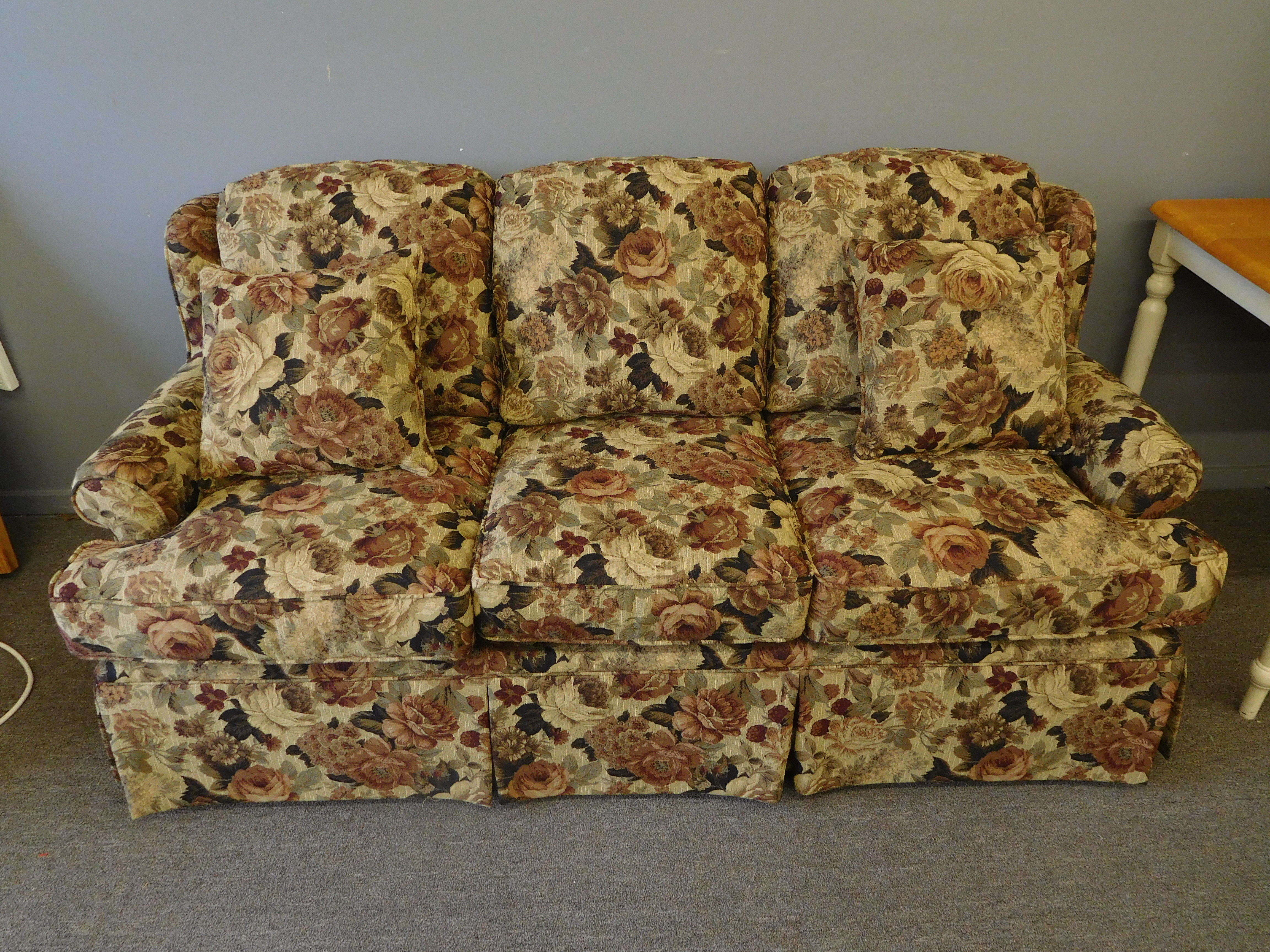 Earth Tone Floral Sofa by Craftmaster