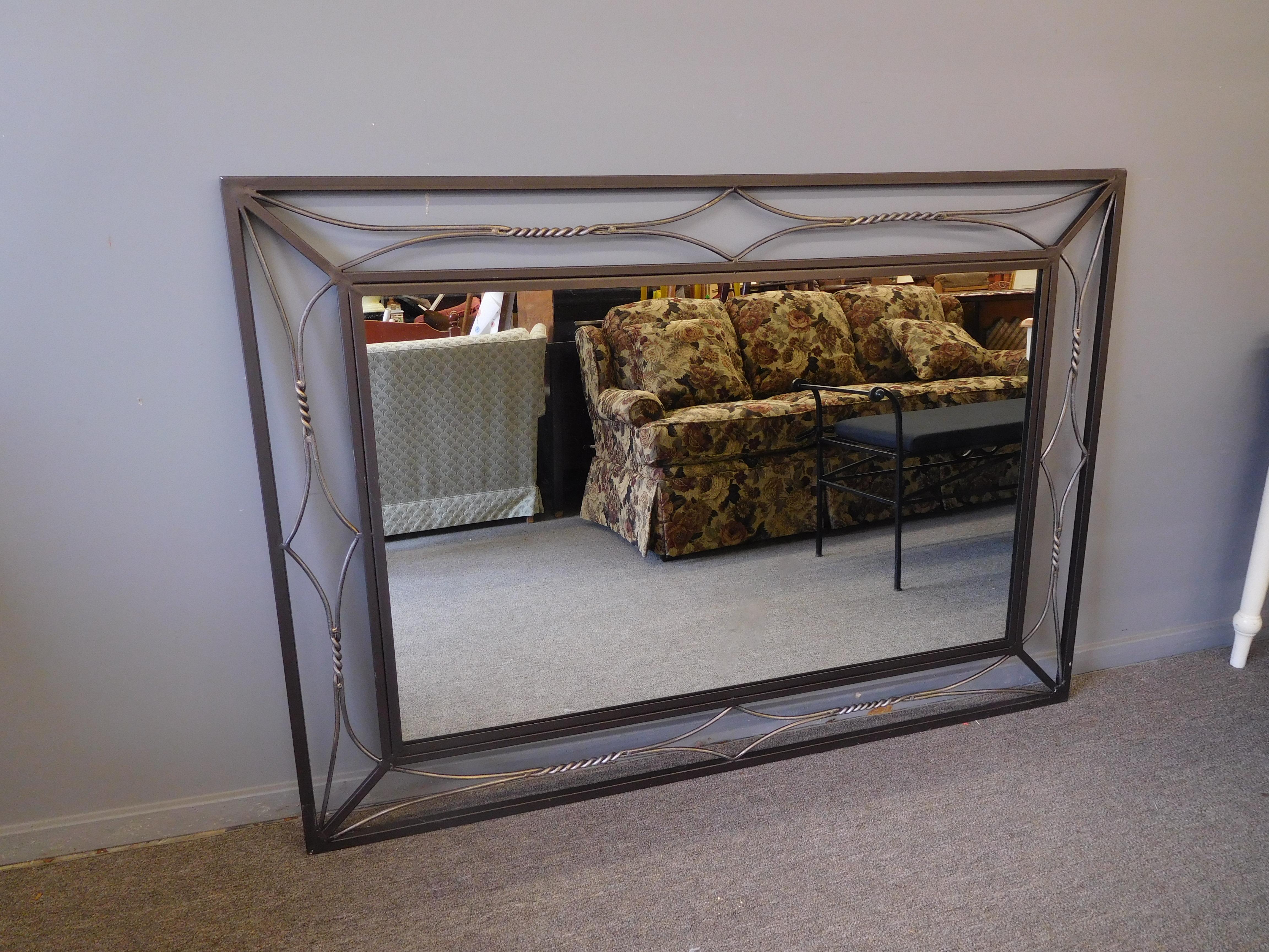 Modern Metal Framed Mirror