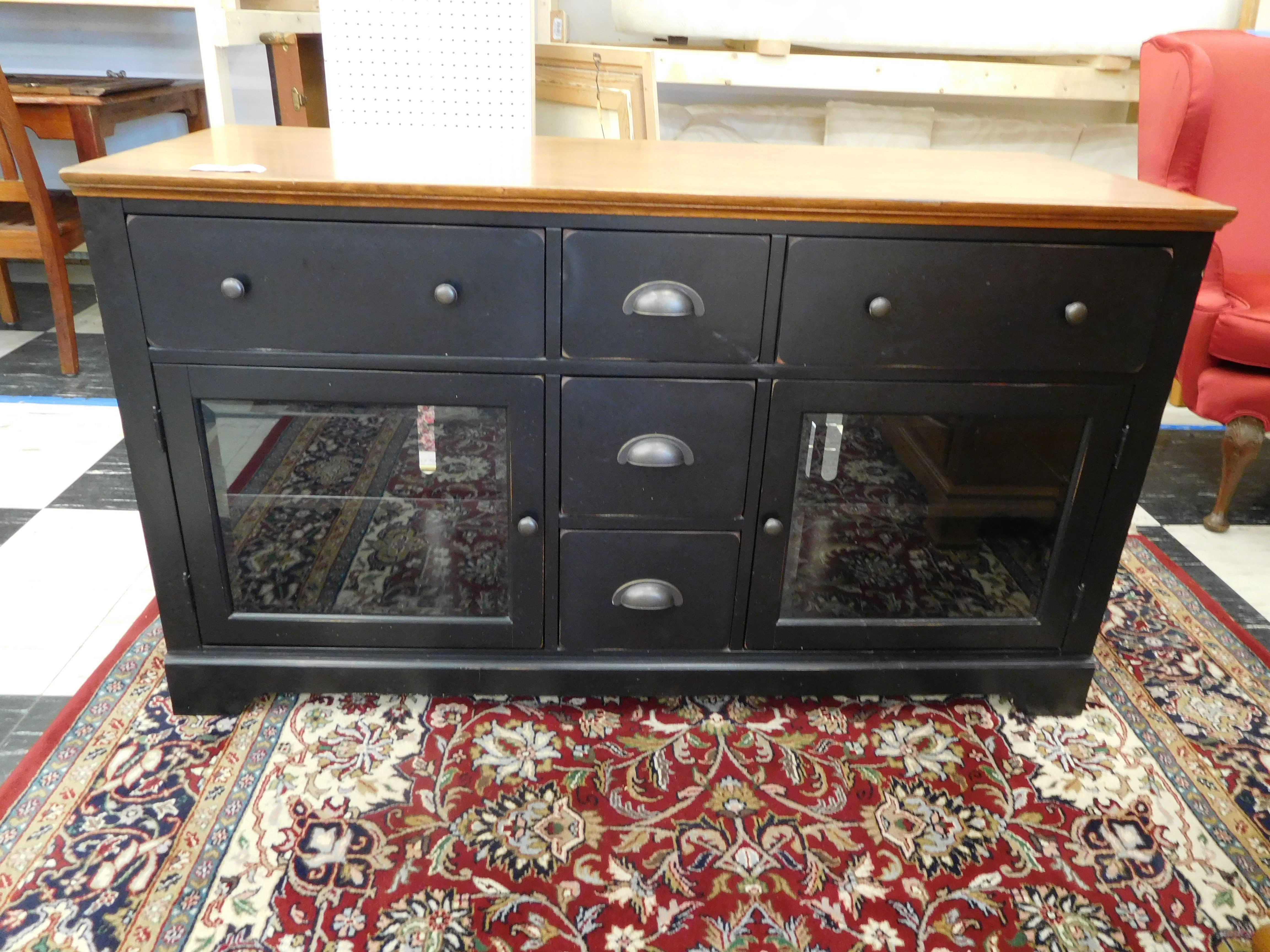 Black Buffet/ t.v Cabinet from grove park