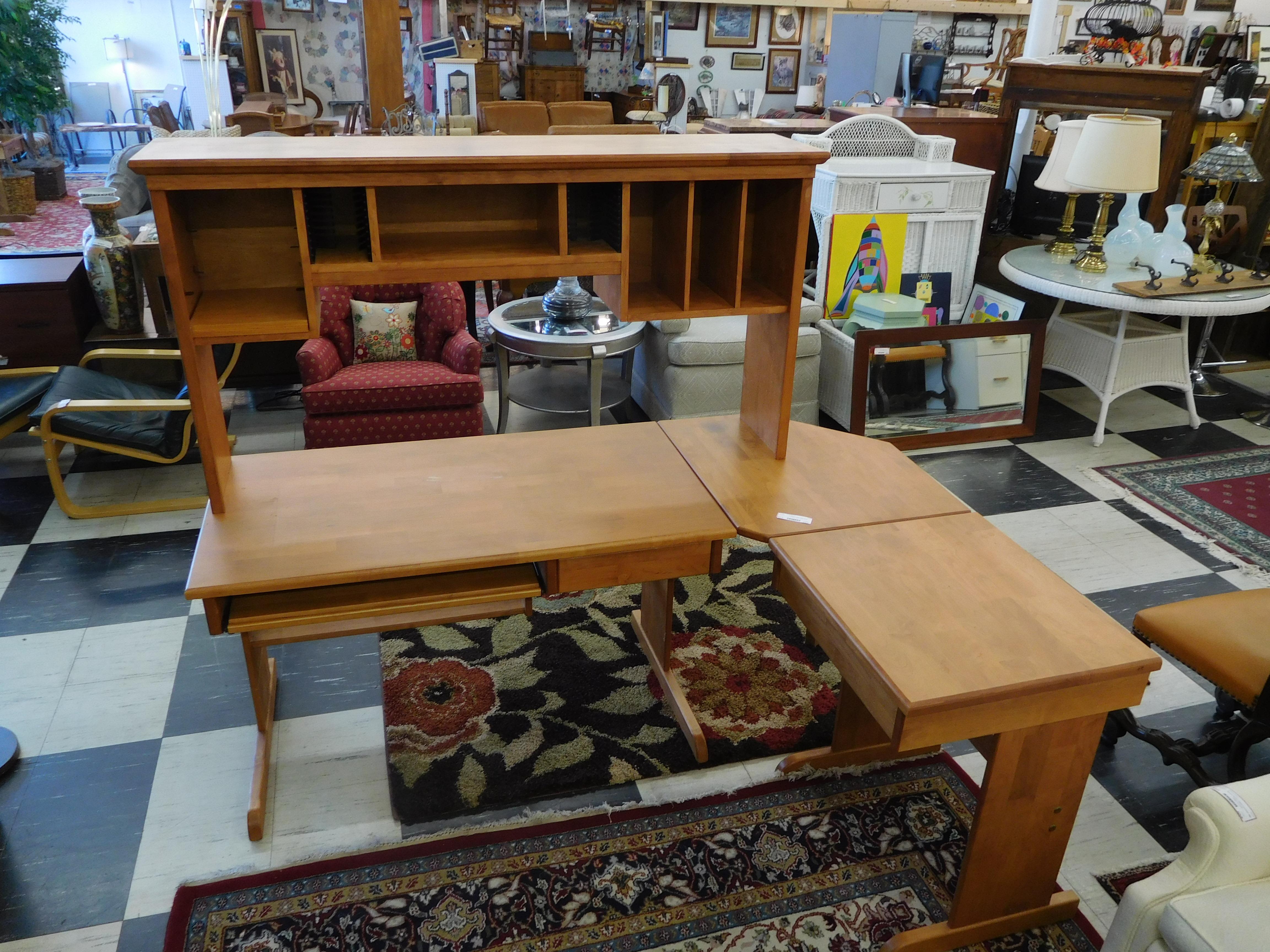 L shaped desk, Solid Wood