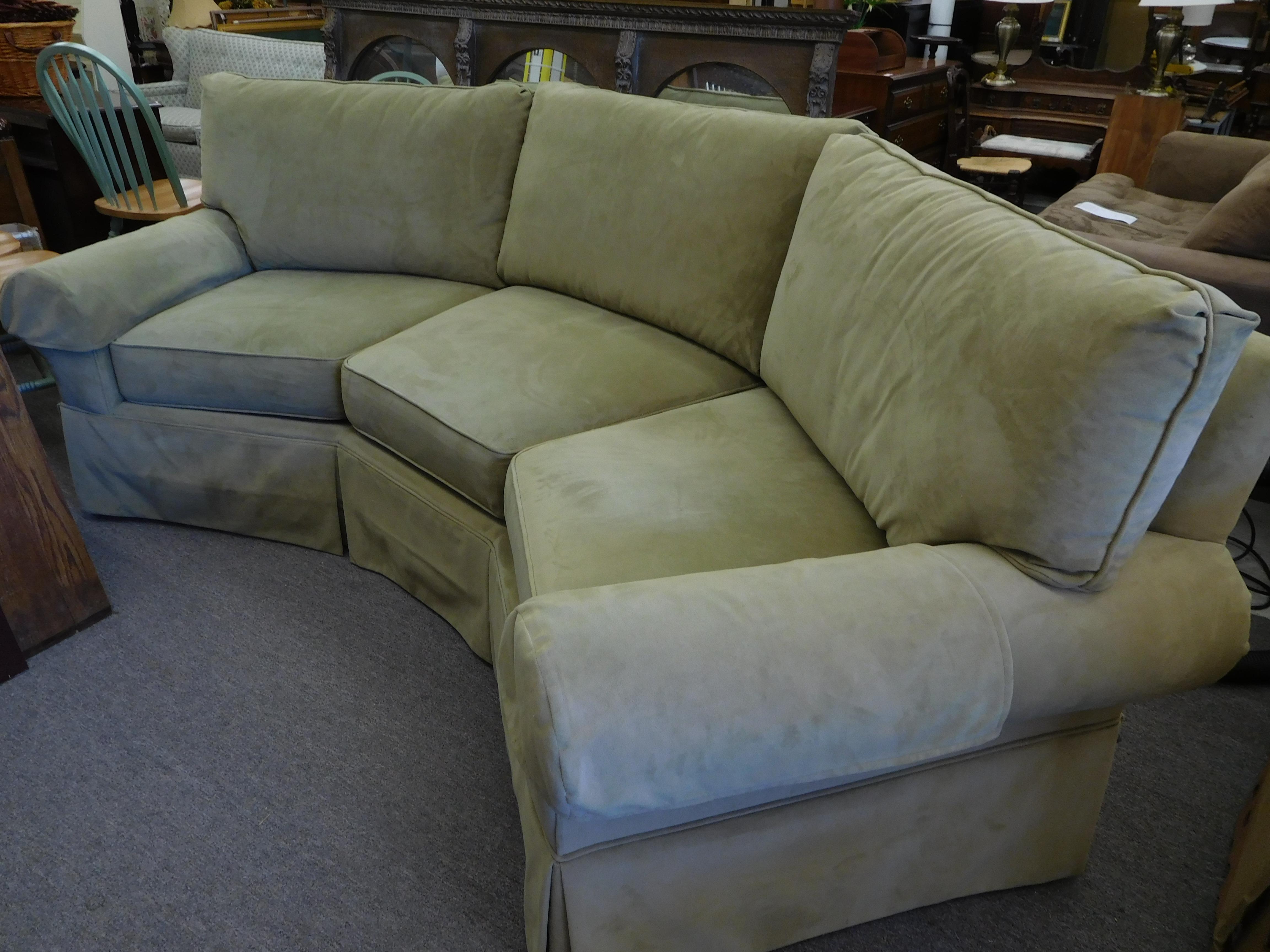 Soft Sage Micro Suede/Fiber Sofa by Jetton Furniture Co.