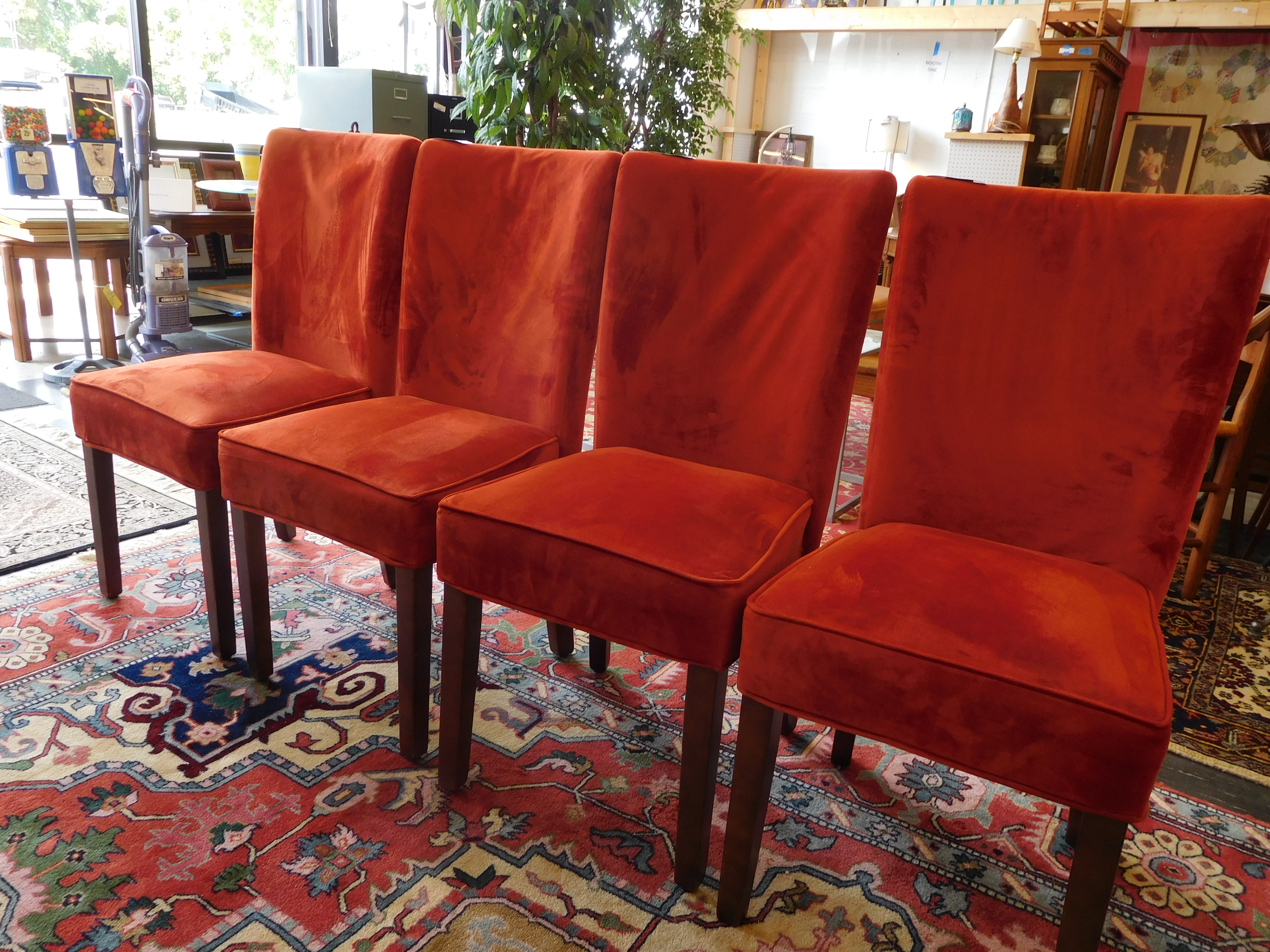 Burnt Orange Upholstered Dining Chair - Wow!
