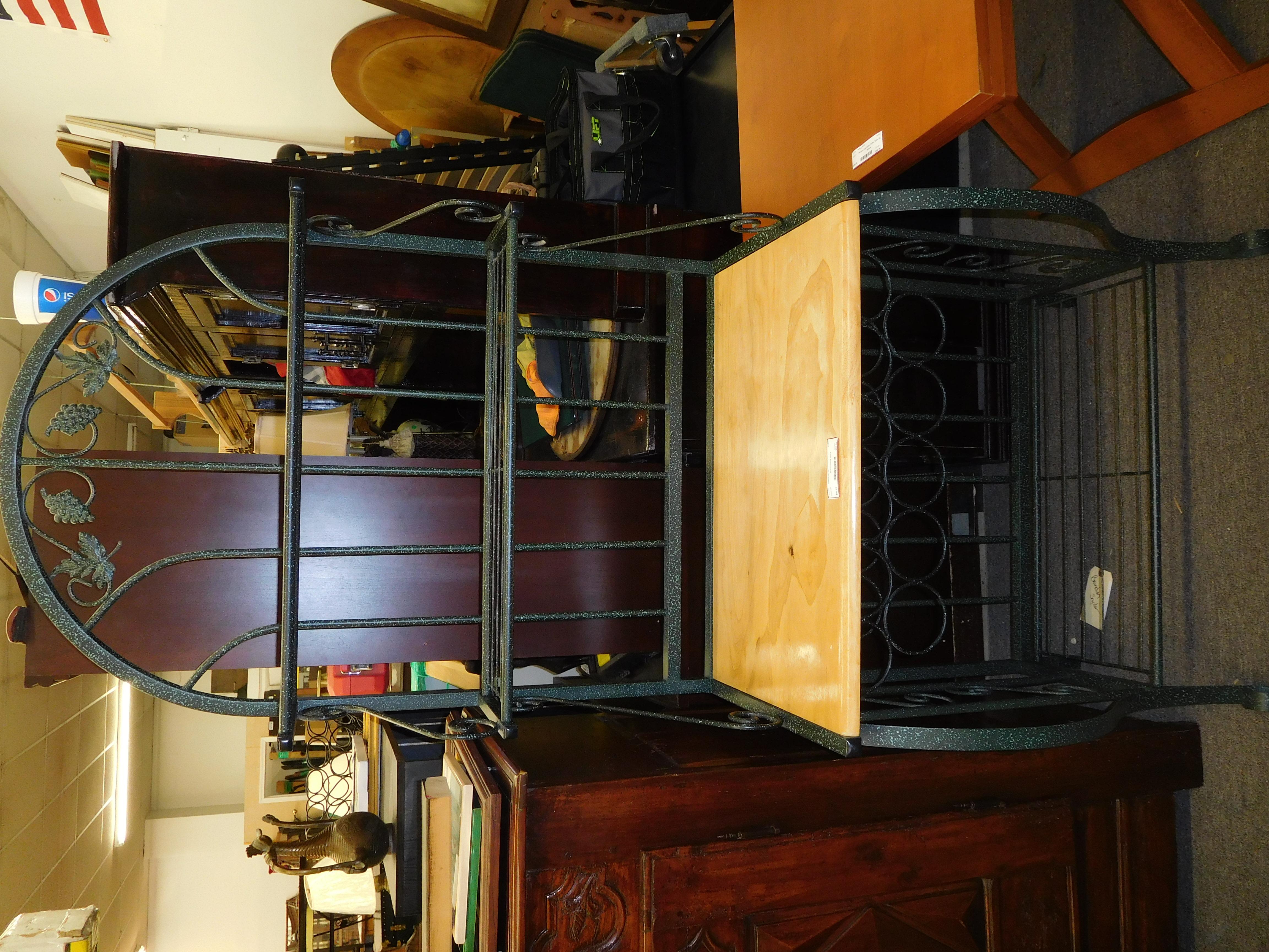 Bakers Rack with Wine Storage Below