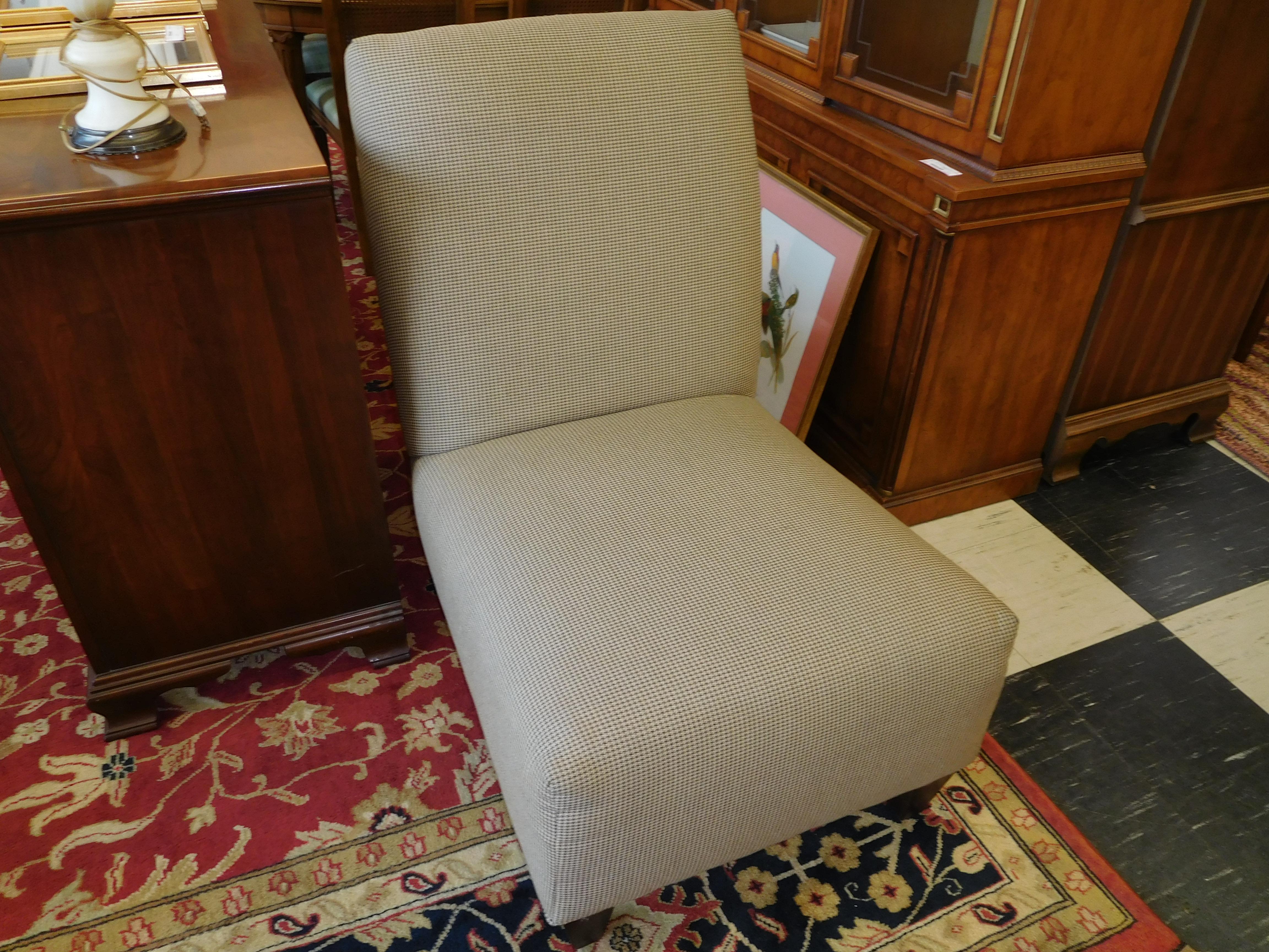 Contemporary Neutral Tone Slipper Chair