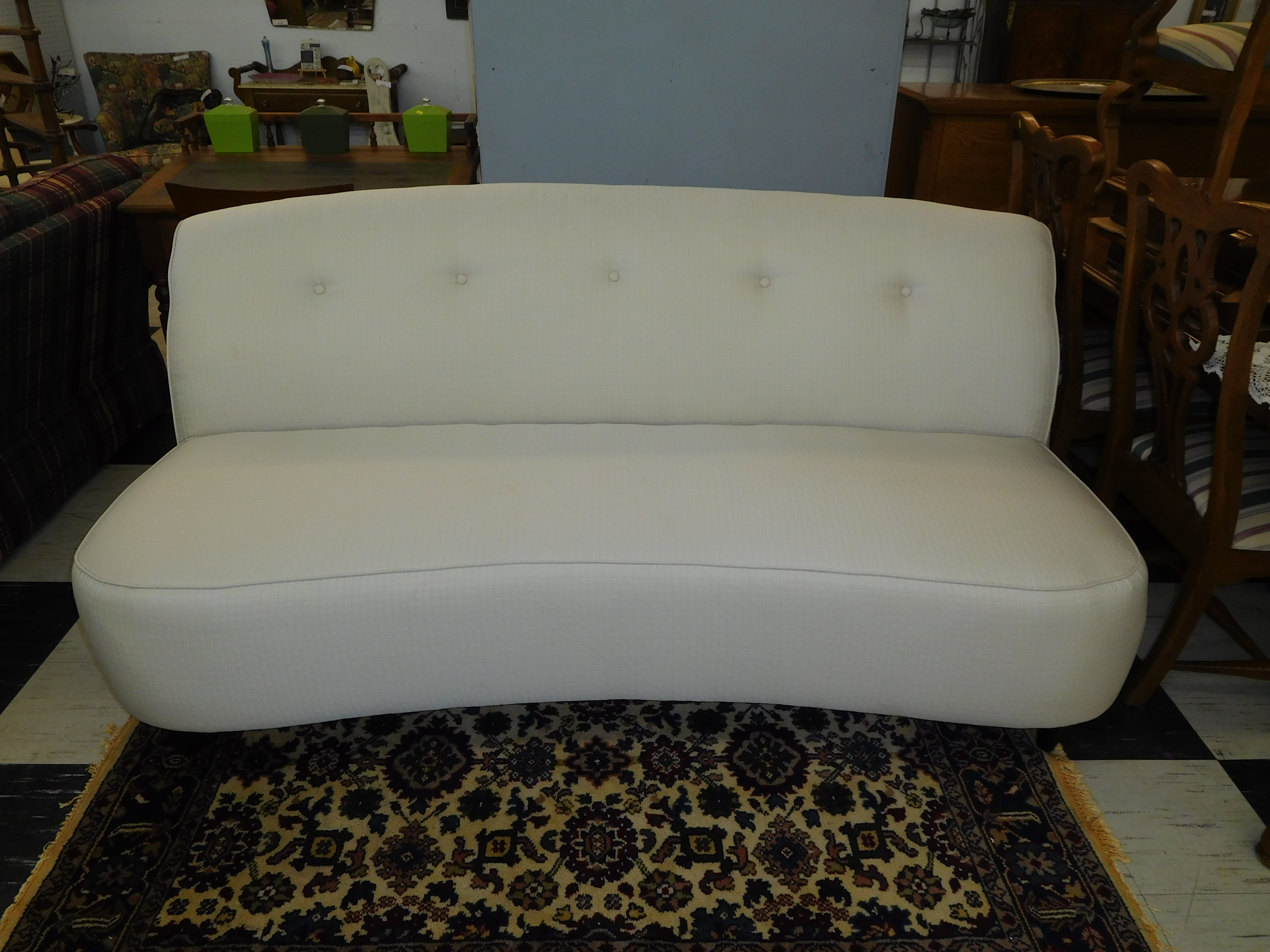Contemporary Armless White Sofa in LIKE NEW Condition!