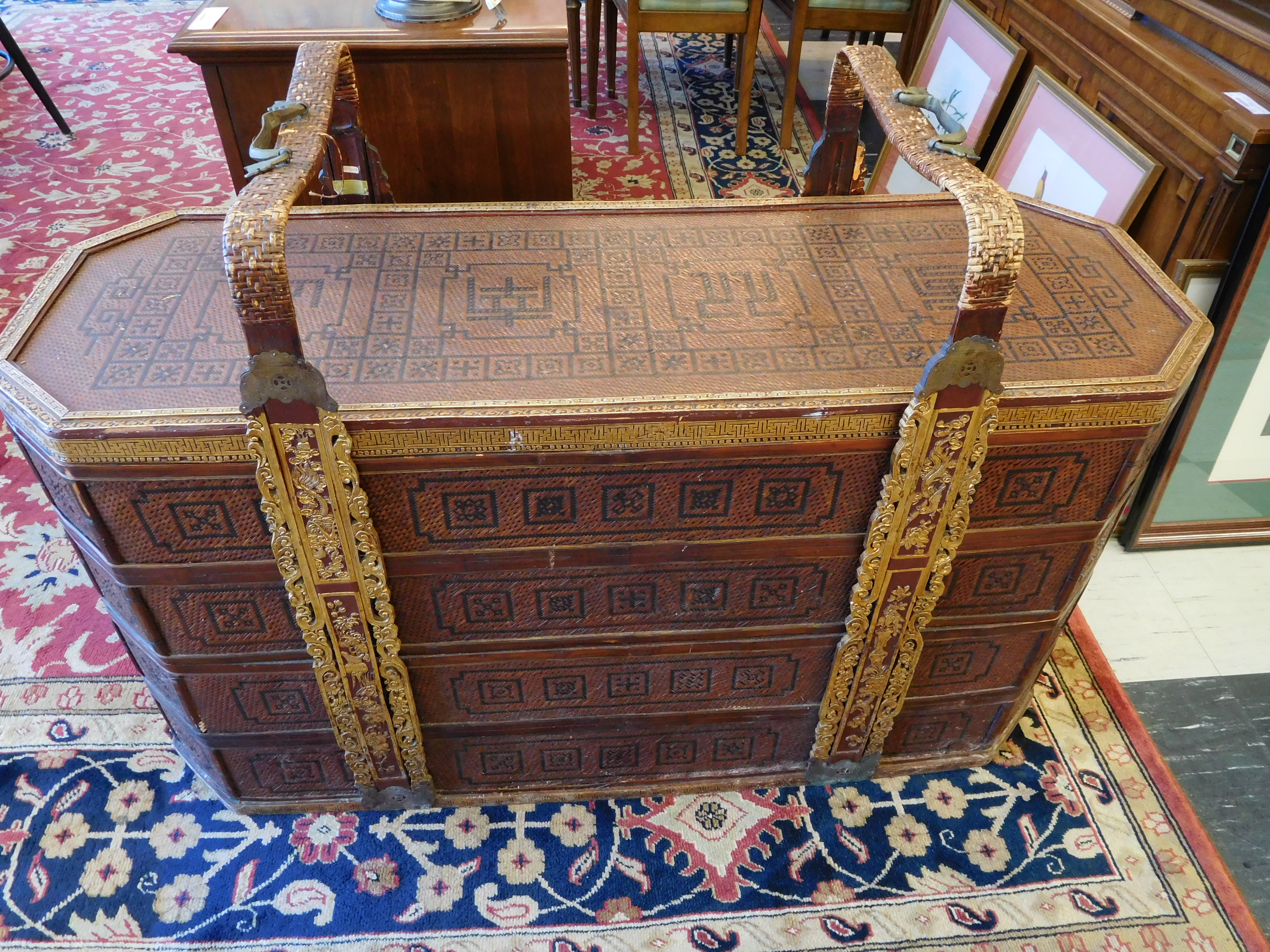 Thai Wedding Chest/Trunk with Handles