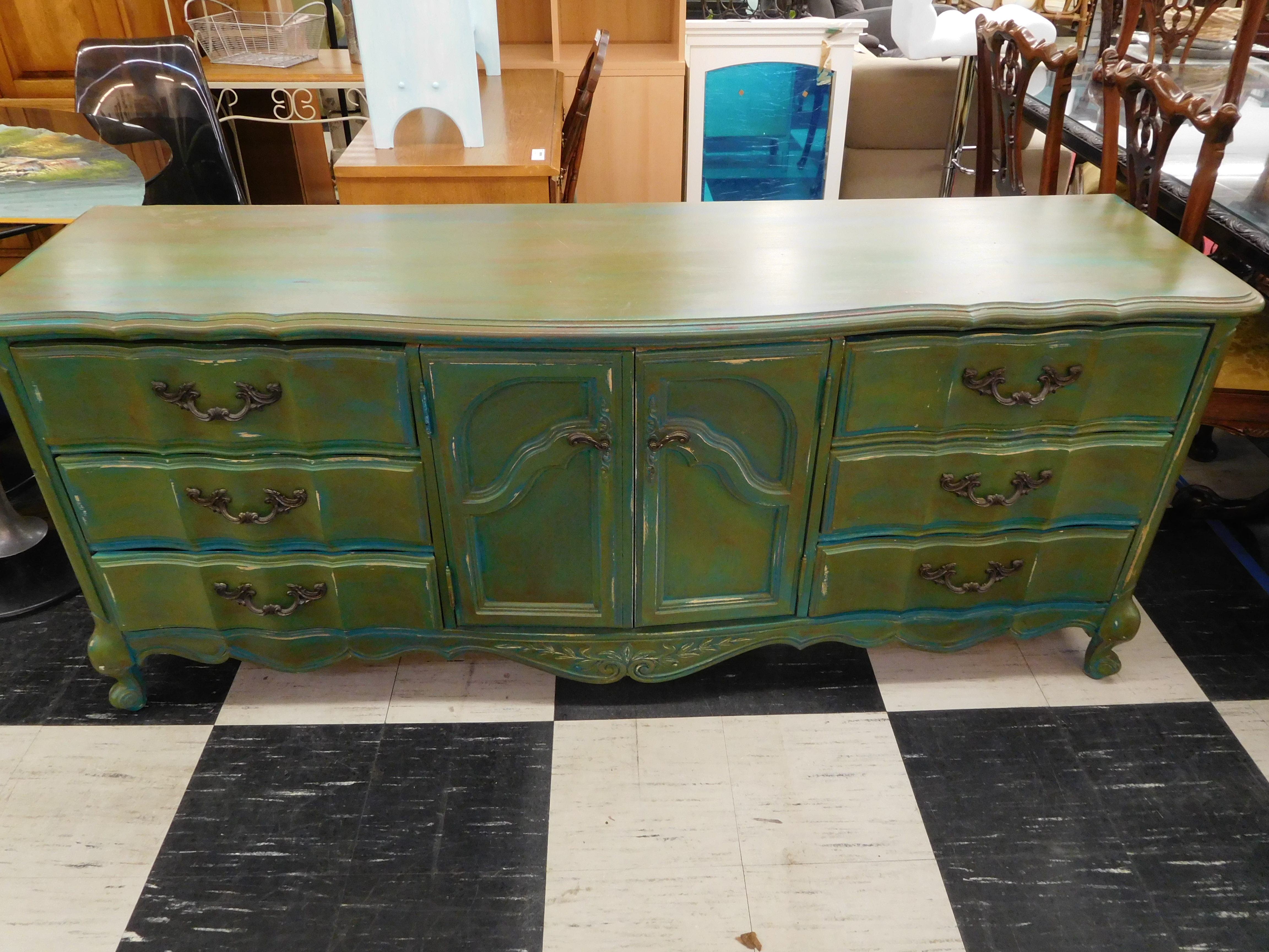 Shabby Chic French Provincial Dresser by American of Martinsville