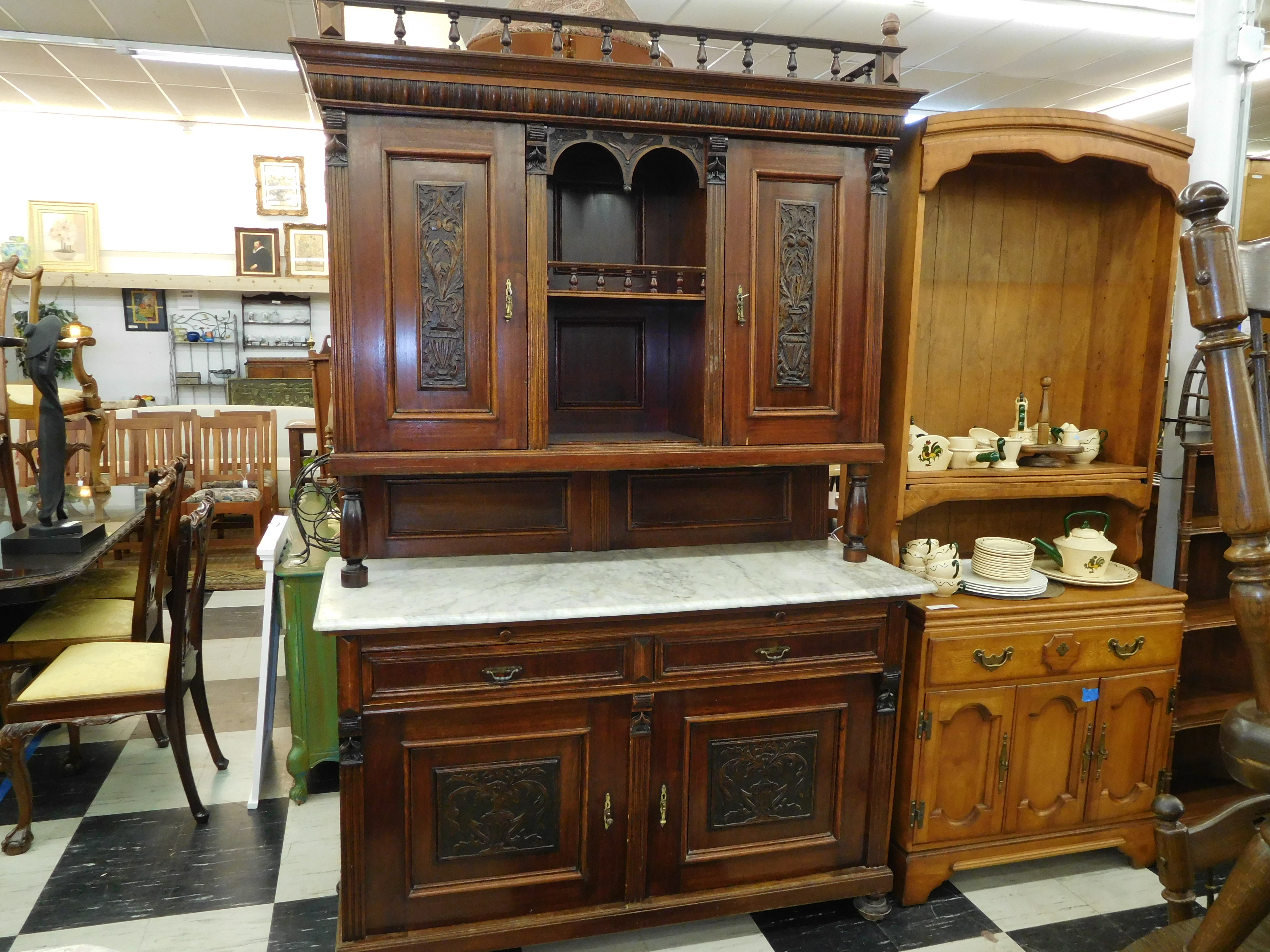 Antique Eastlake Style Buffet and Hutch