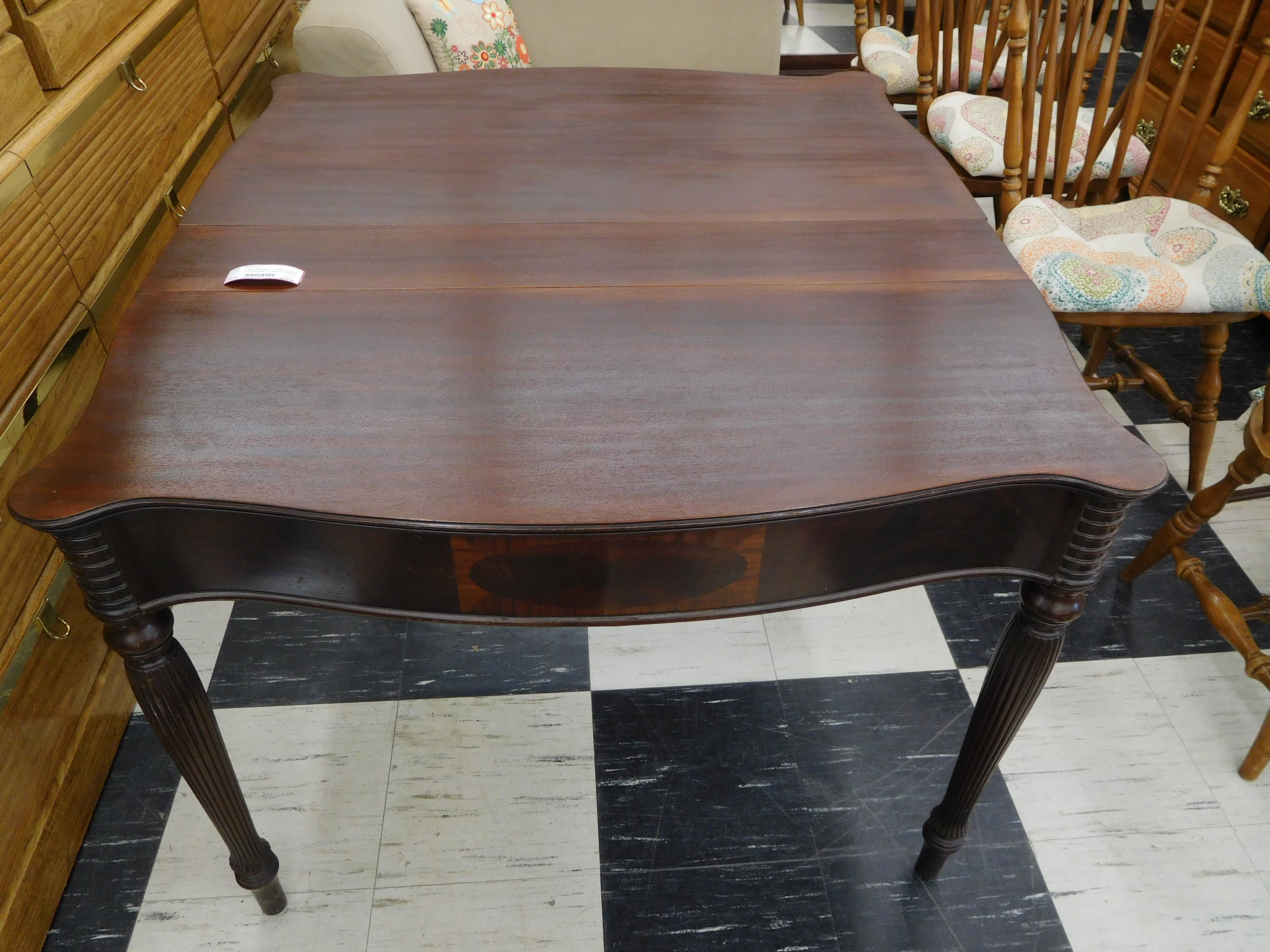 Chippendale Carved Mahogany Extending Dining Table