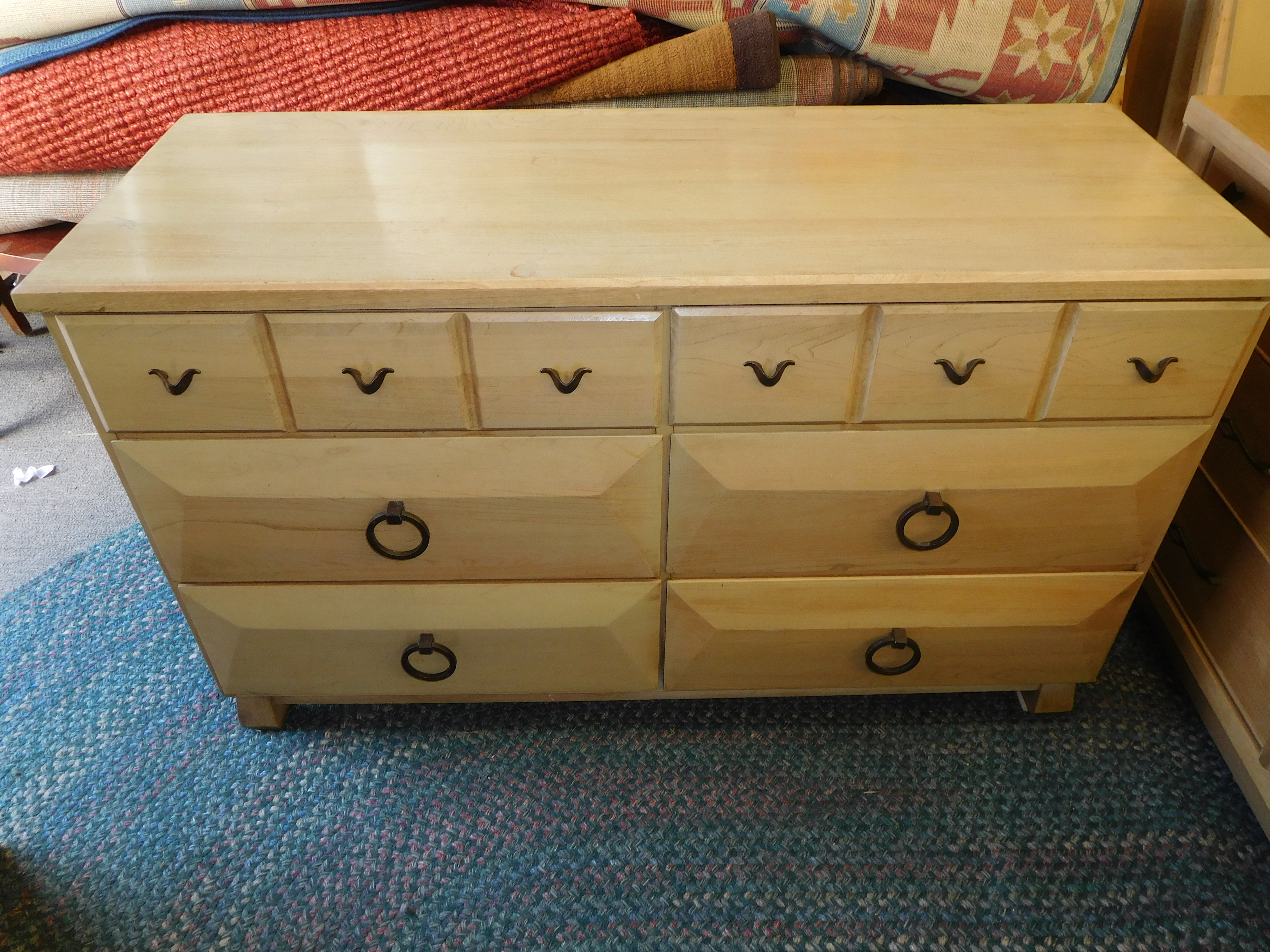 Mid Century Dresser with Mirror by Forest Furniture