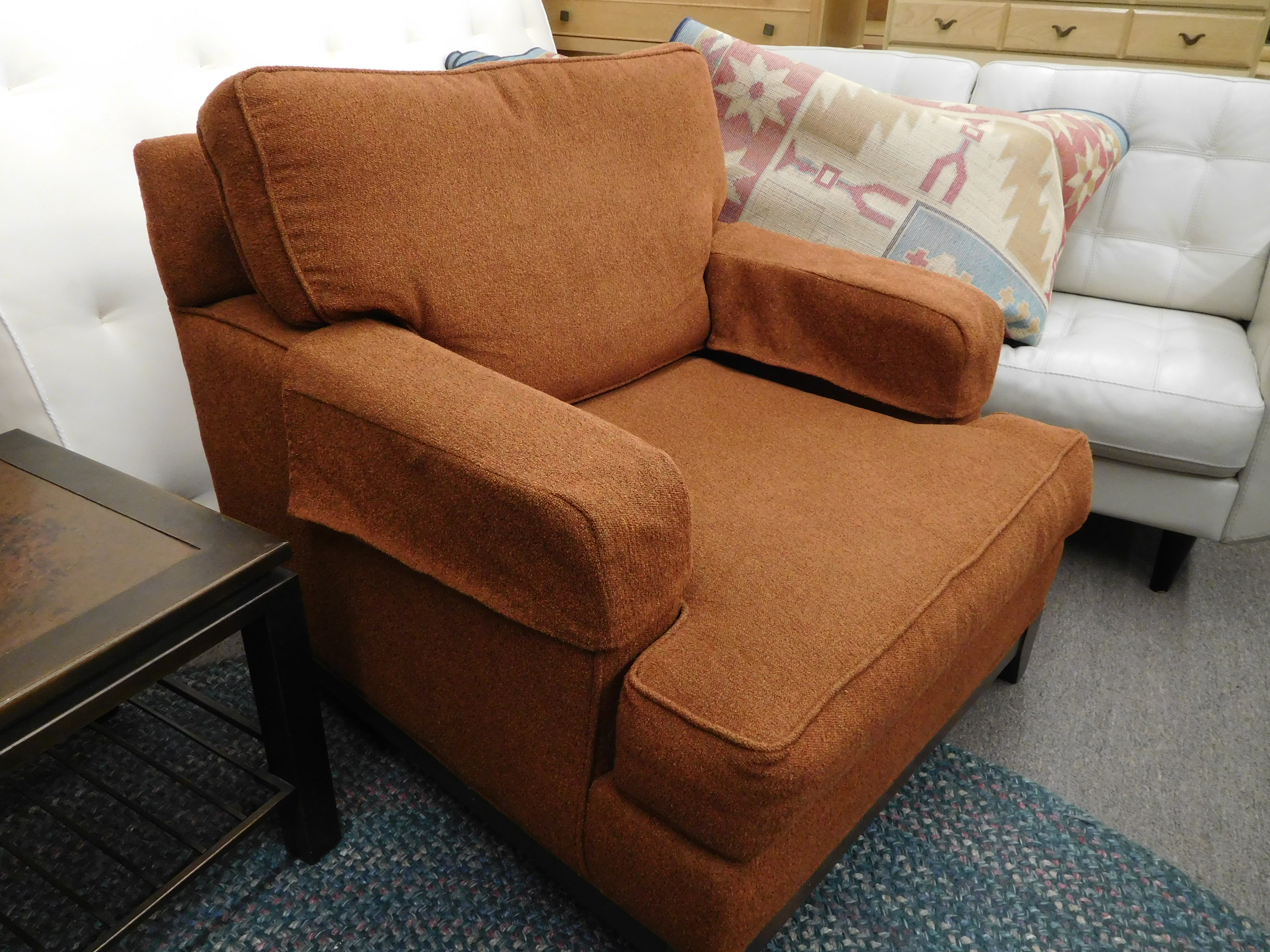 Apricot Upholstered Club Chair by Ethan Allen